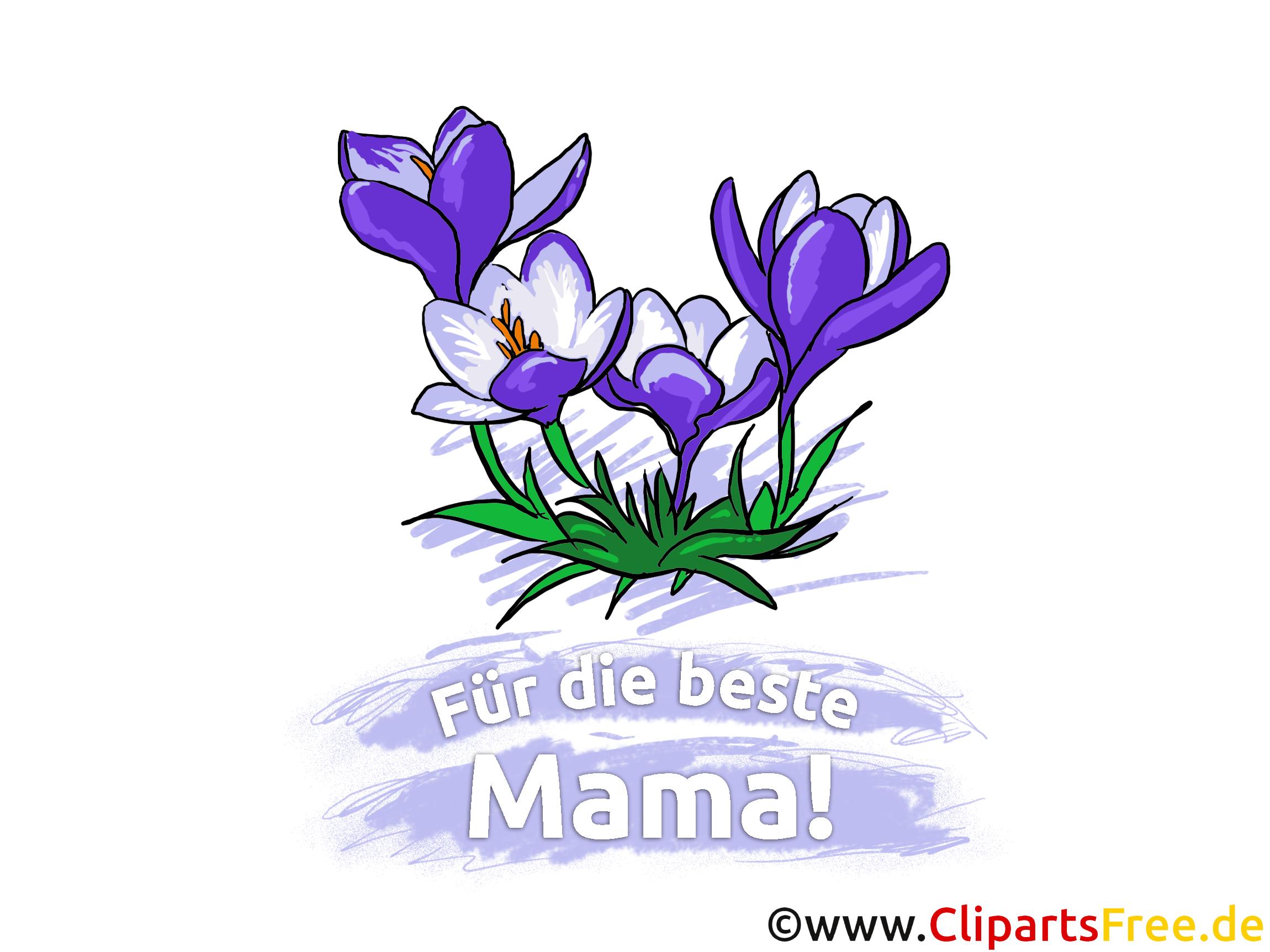 Blumen zum Muttertag Glückwunschkarte