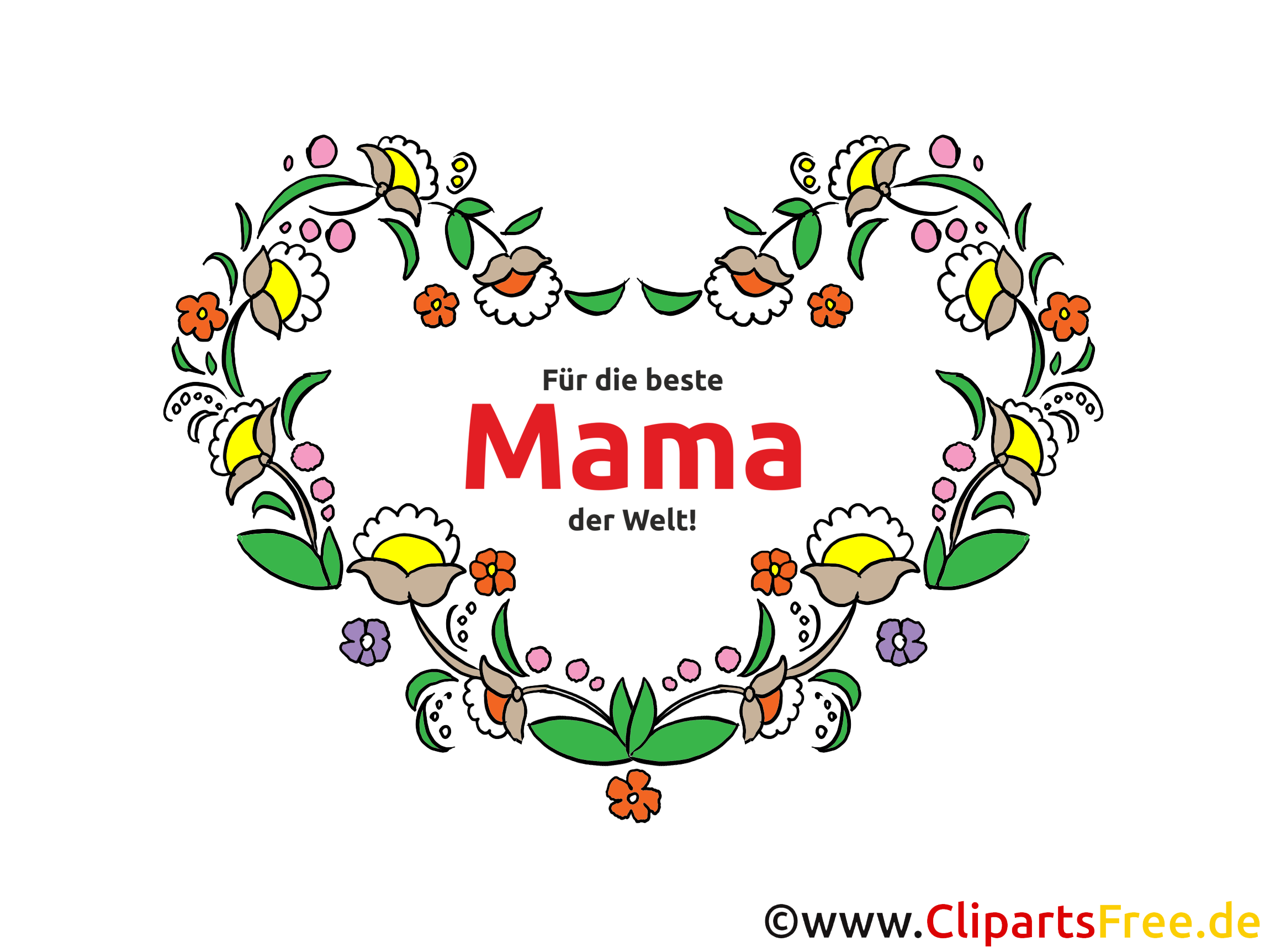 Für die beste Mama der Welt Glückwunschkarte, Grußkarte, eCard