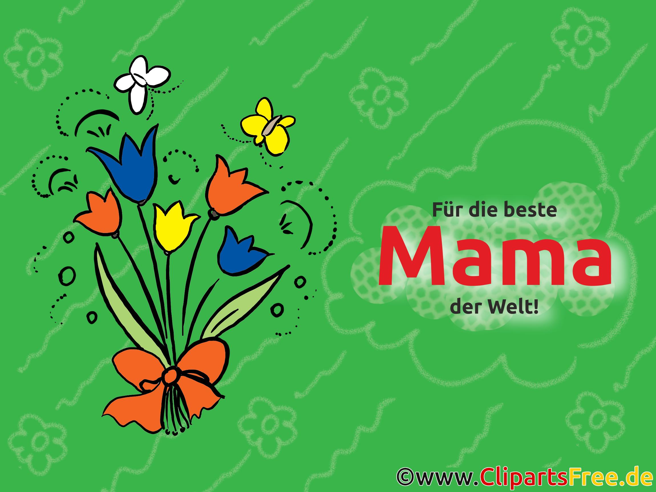 Für die beste Mama der Welt Grusskarte