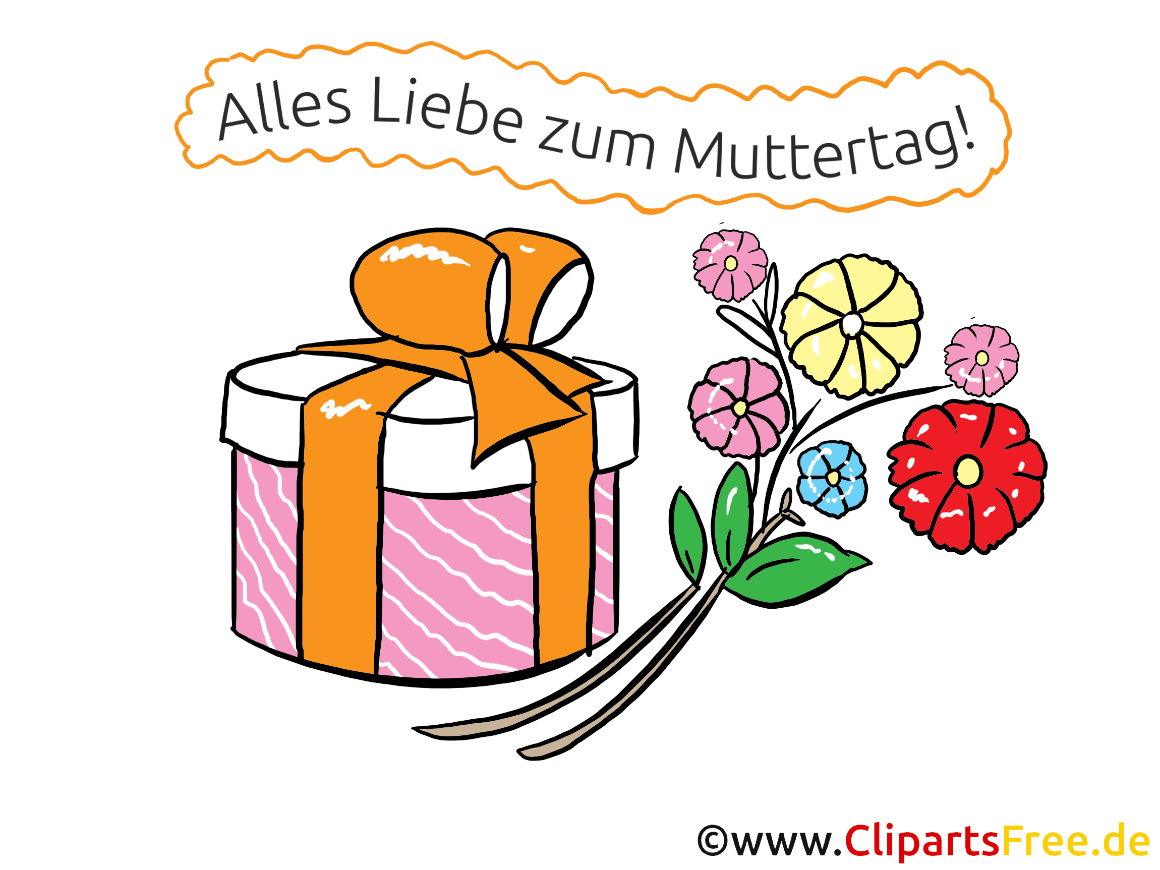 Geschenk zum Muttertag - Grußkarte, Bild, eCard