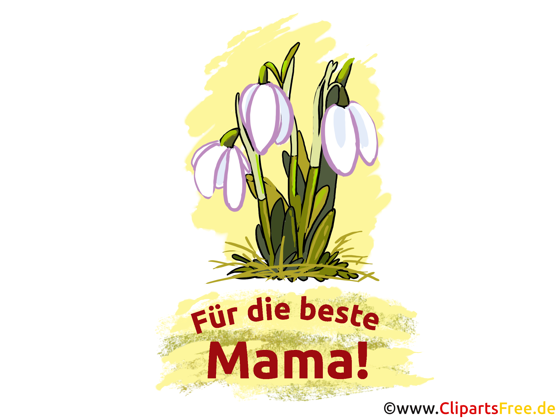 Mother's day card, image, message with flowers