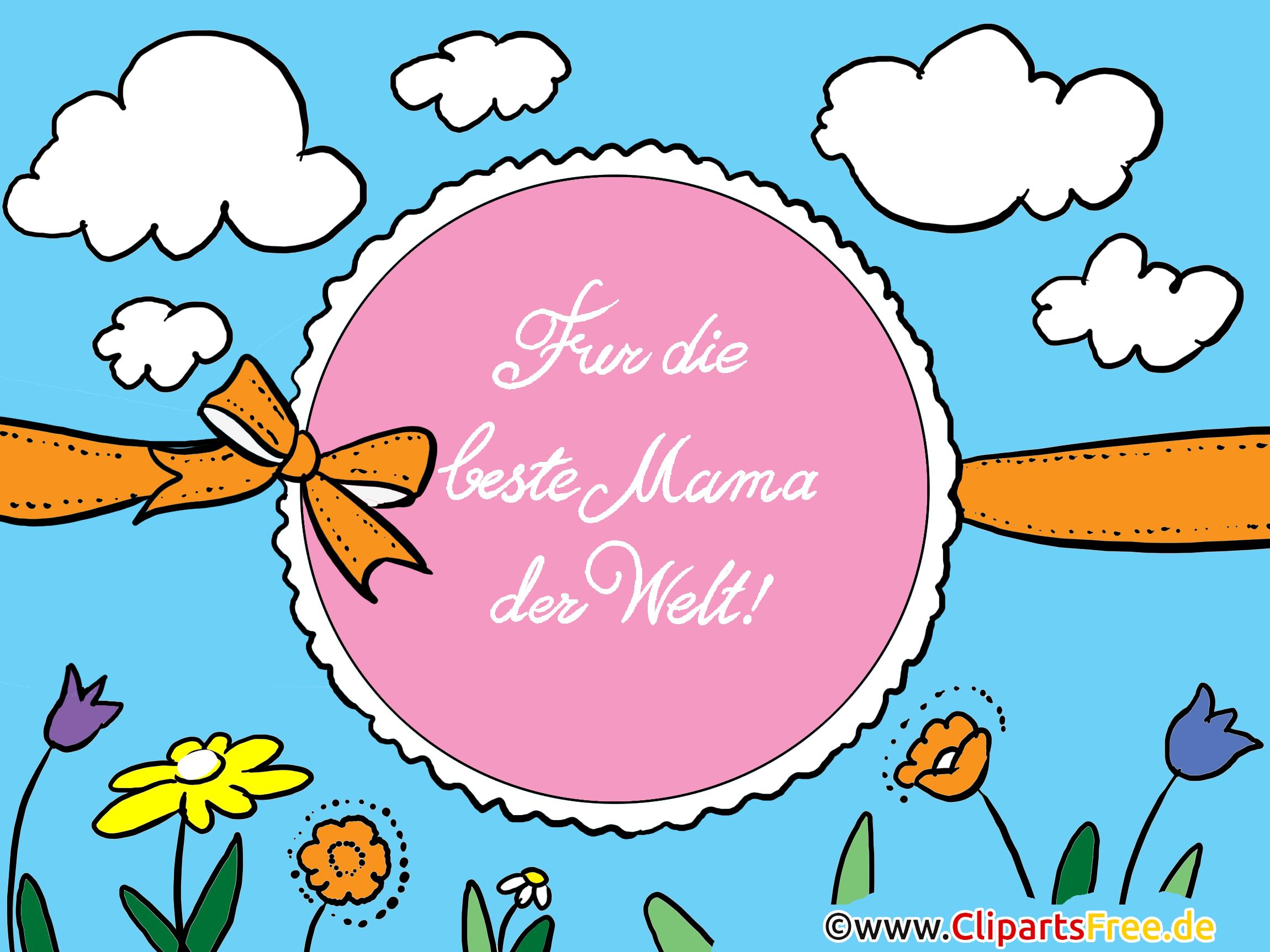 Mutter Tag Glückwunschkarten, Bilder, Cliparts
