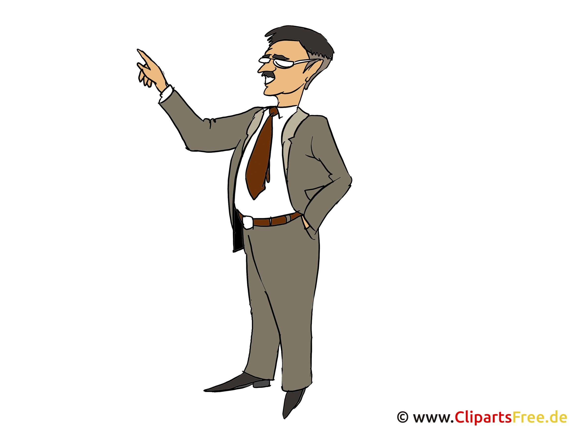 Clipart Mann im Anzug
