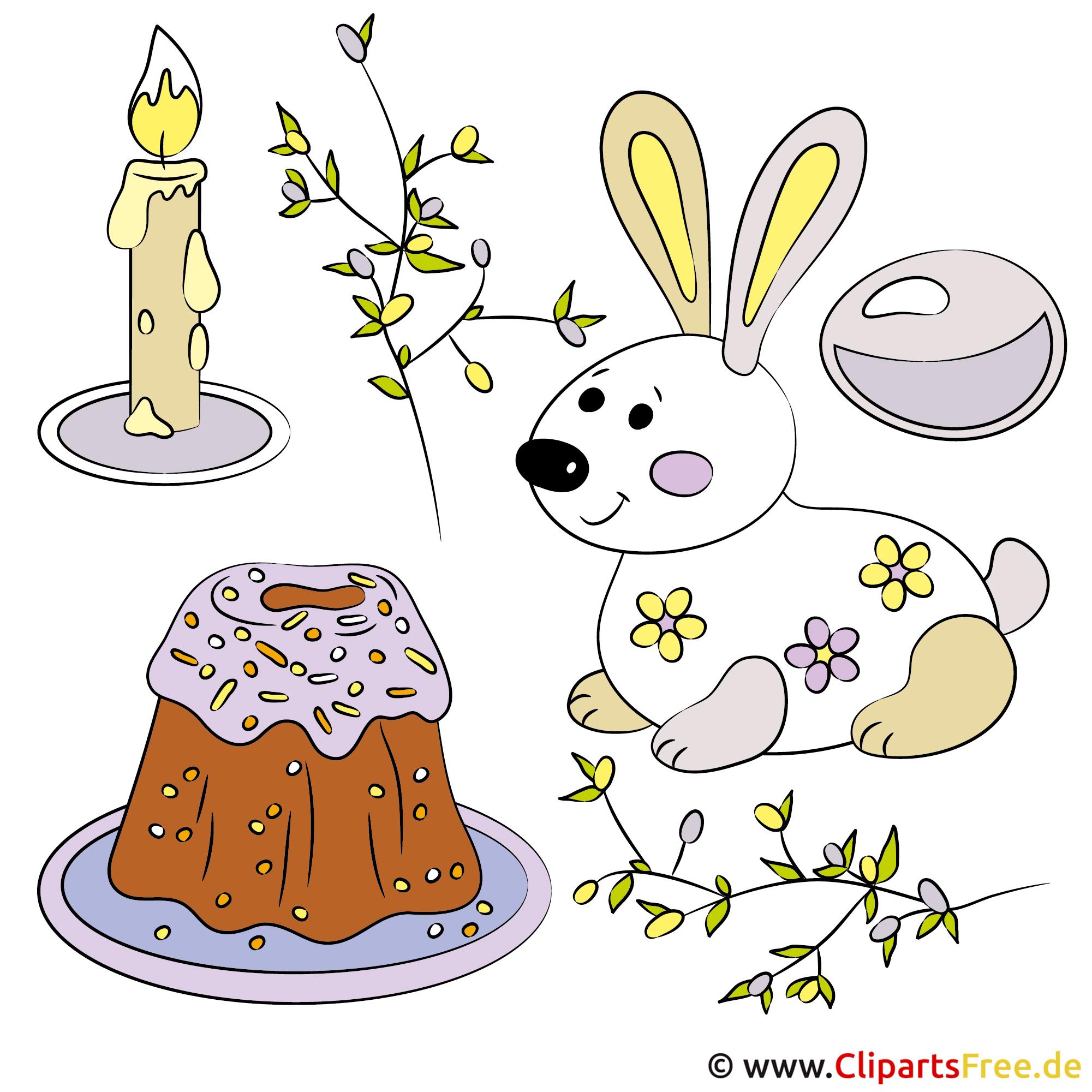 Frohe Ostern Clipart, Illustration, Glückwunschkarte