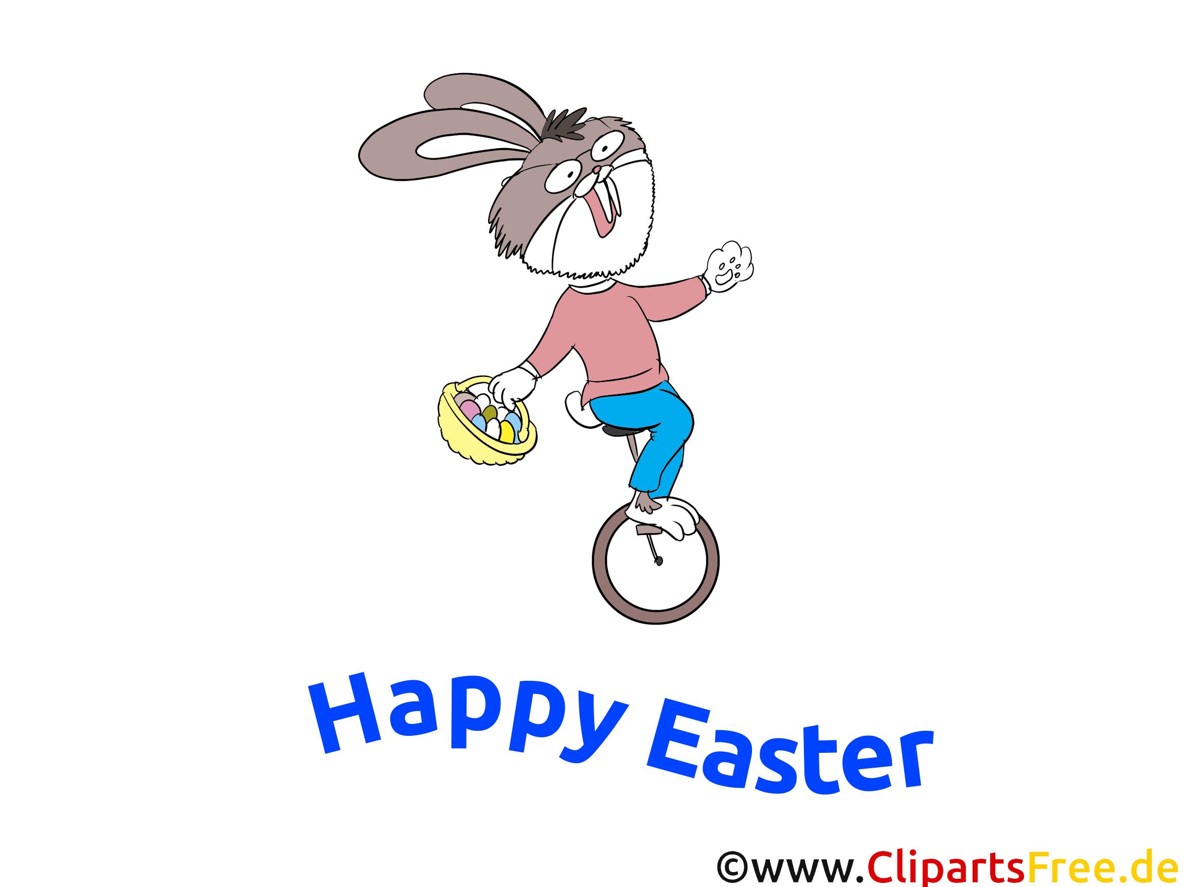 Images drôles pour Pâques - Lapin de Pâques monte un ...