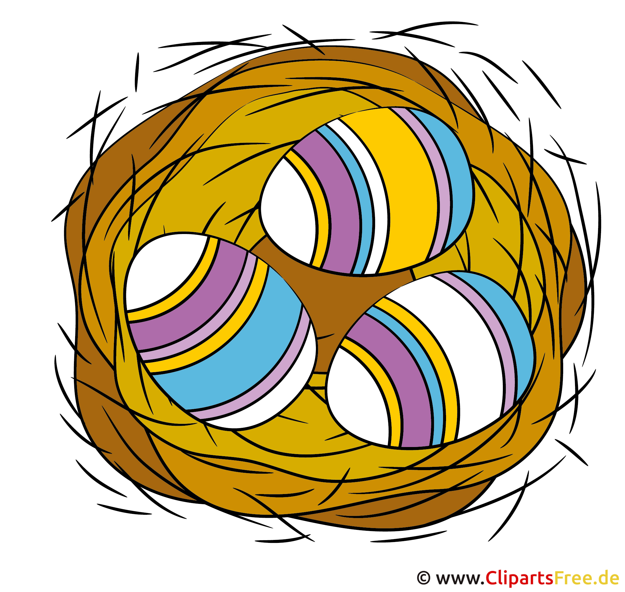 Nest mit Eier Clipart