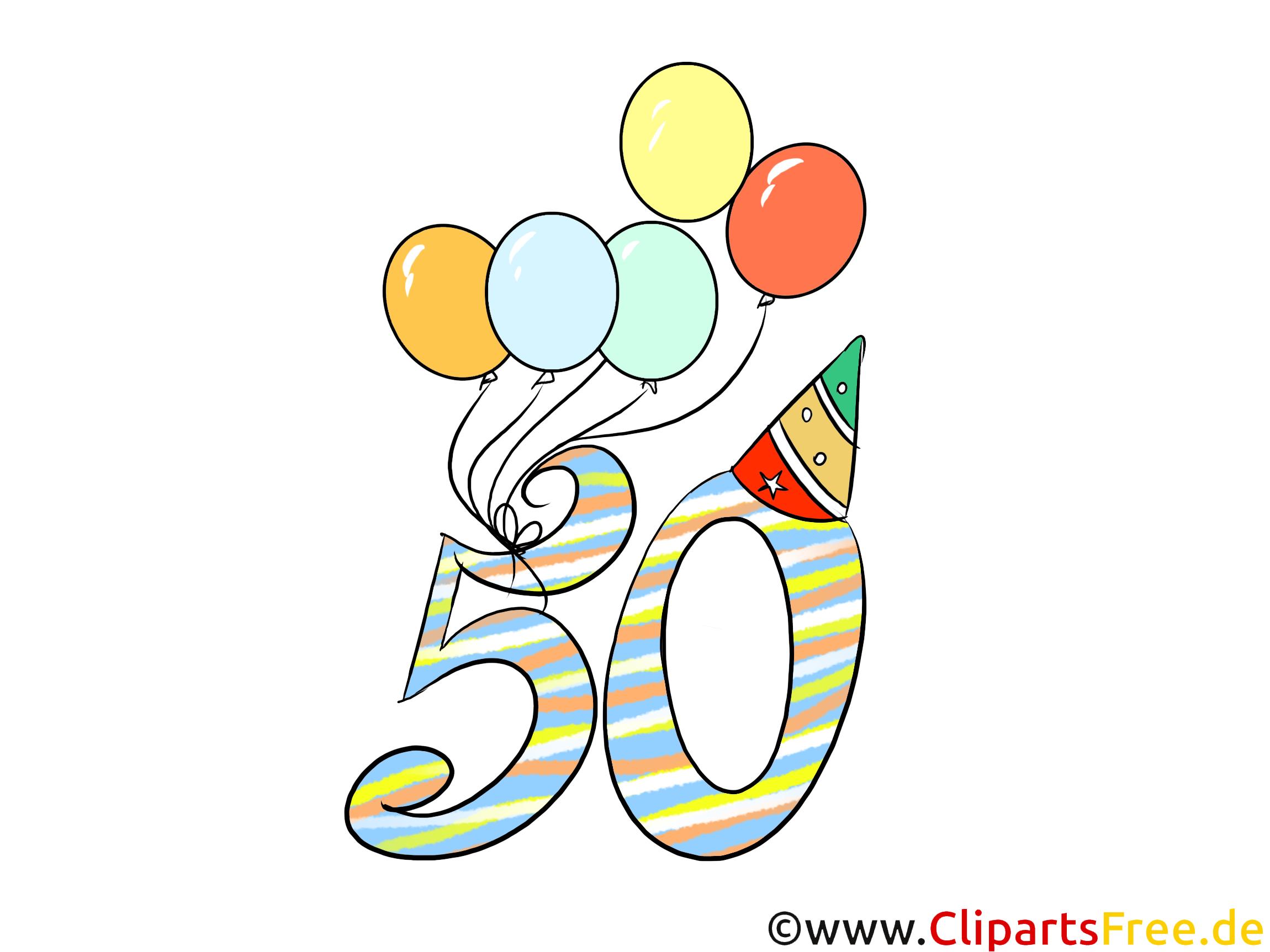 Clipart Geburtstag 50