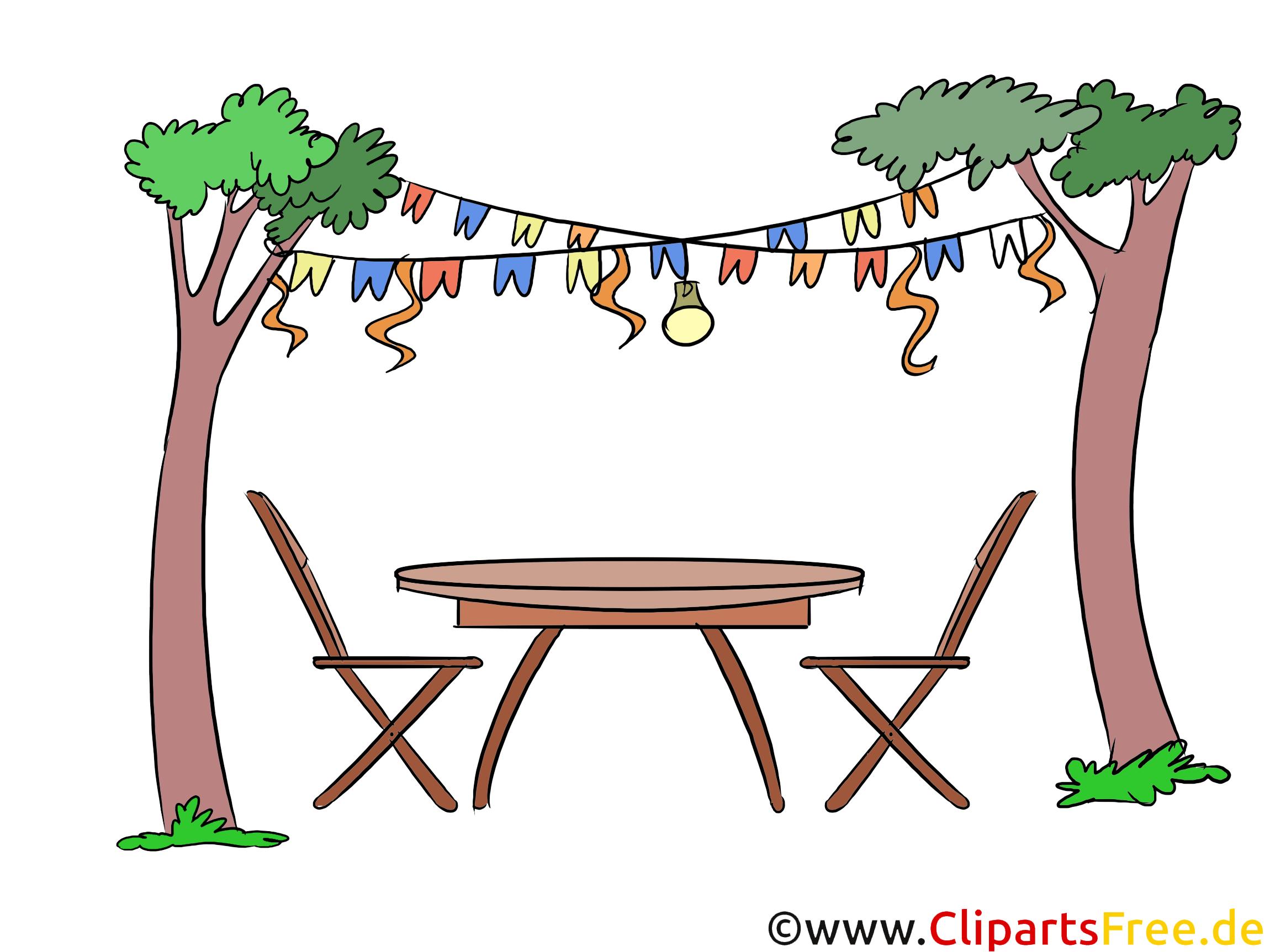 Gartenparty Clipart