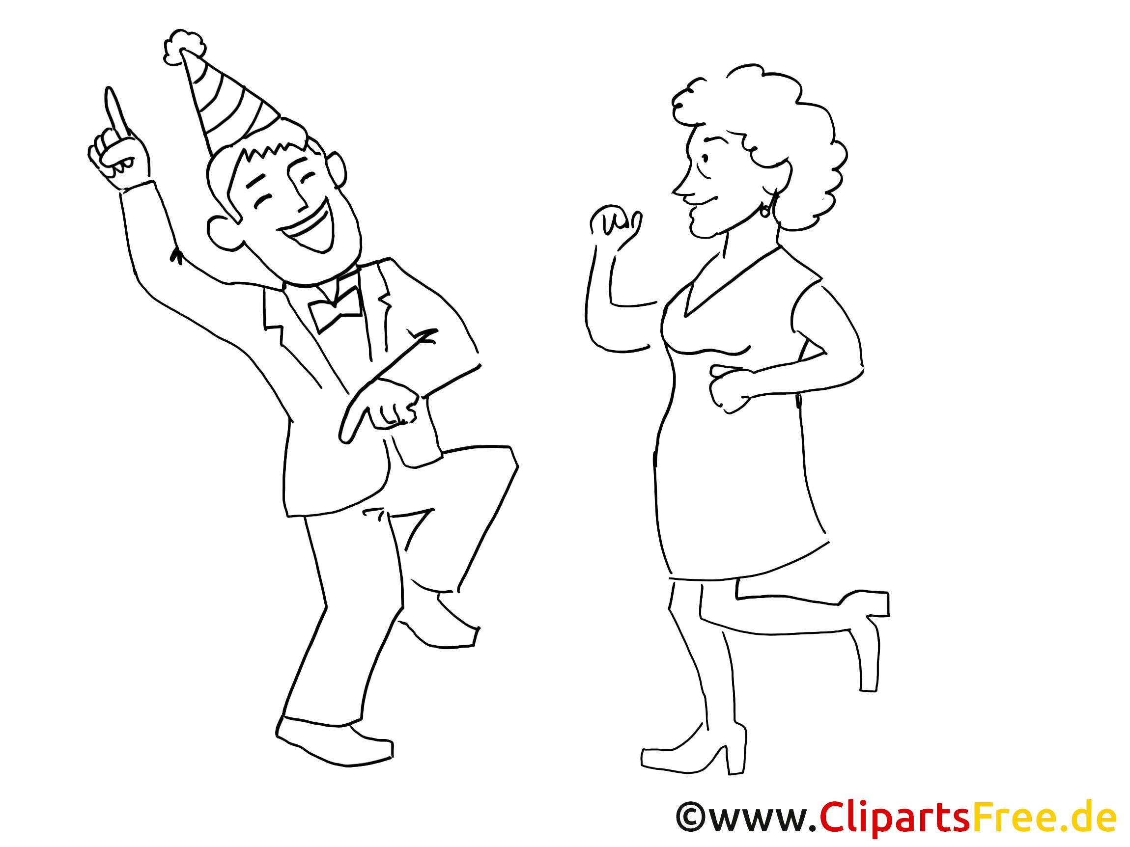 Party Clipart Schwarz Weiß