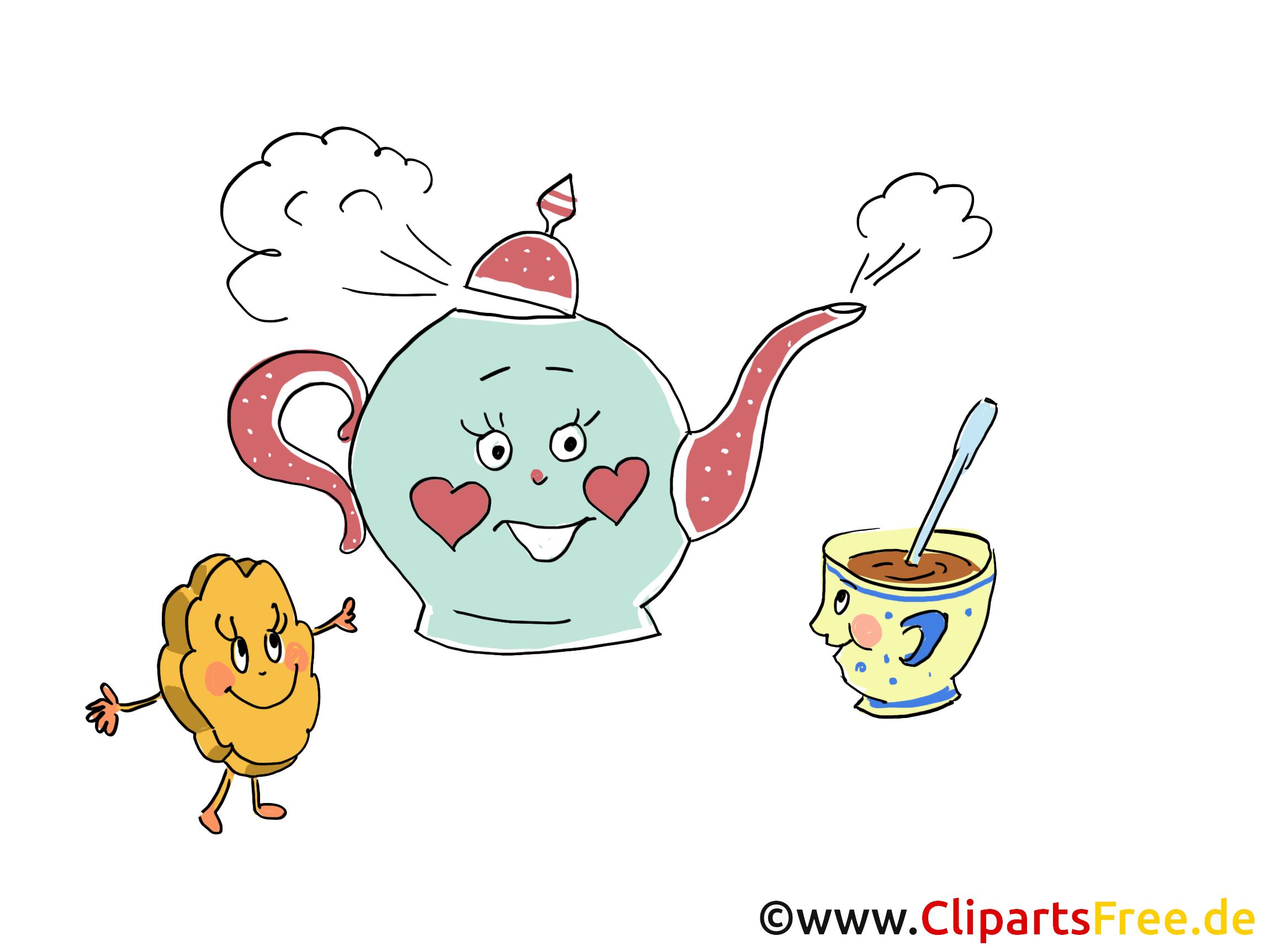 Tee trinken Bilder, Cliparts, Cartoons, Grafiken