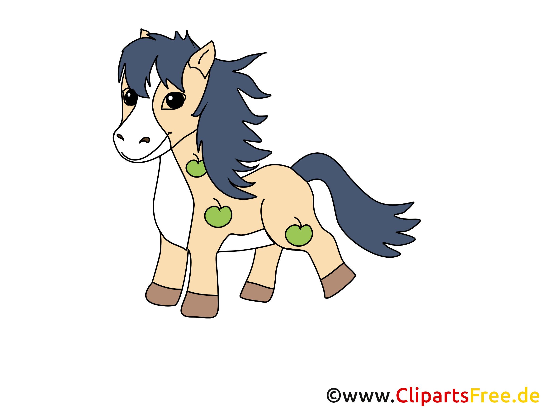 Cartoon Pferd kostenlos