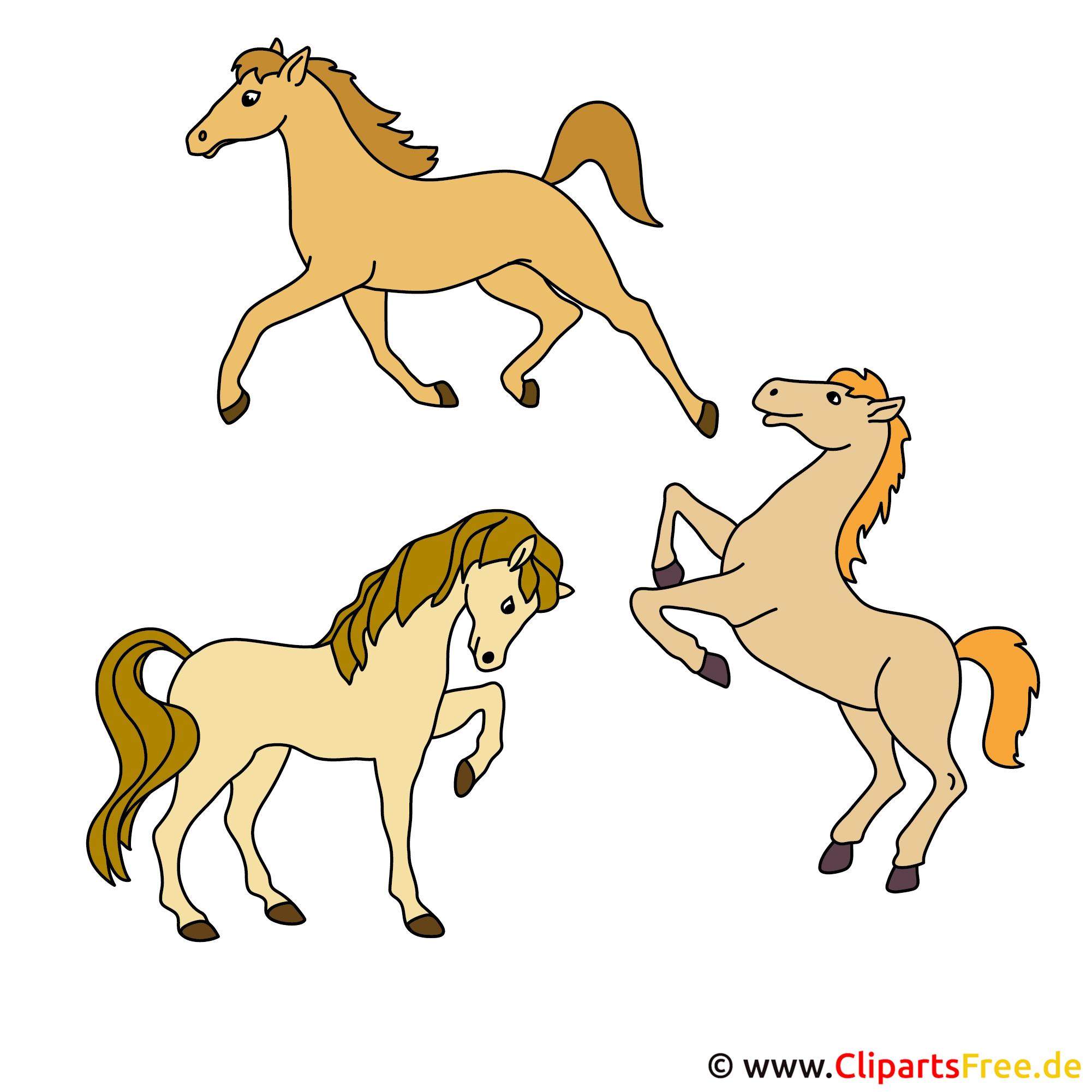 Drei Pferde Clipart