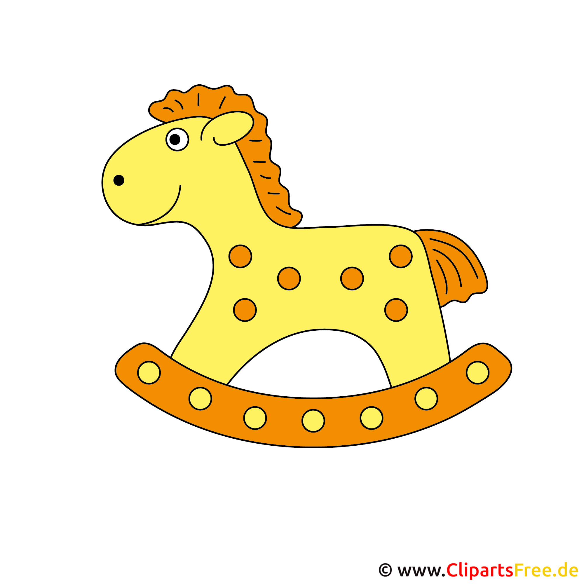 Kostenlose clipart pferd spielzeug