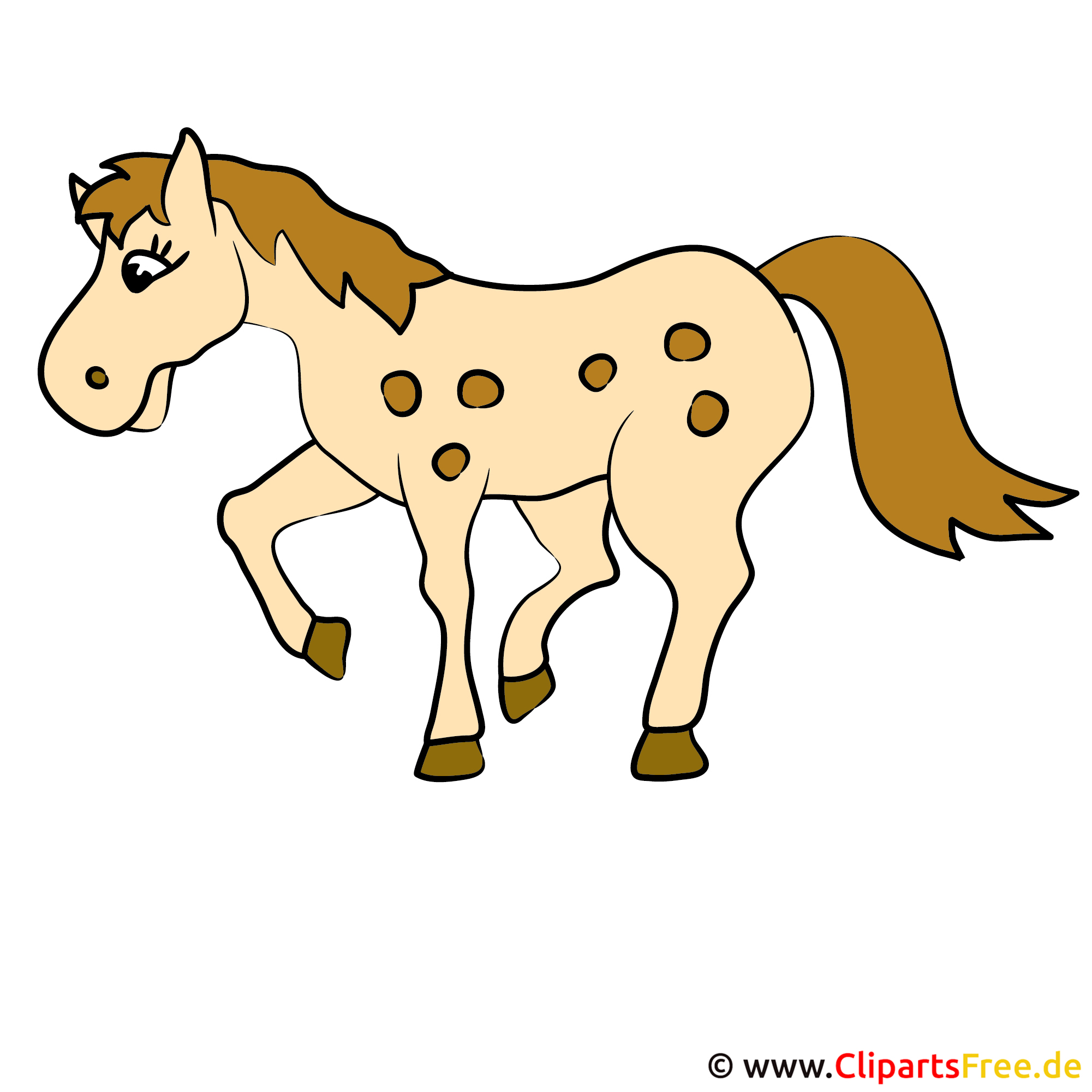 Running Horse Clipart Image