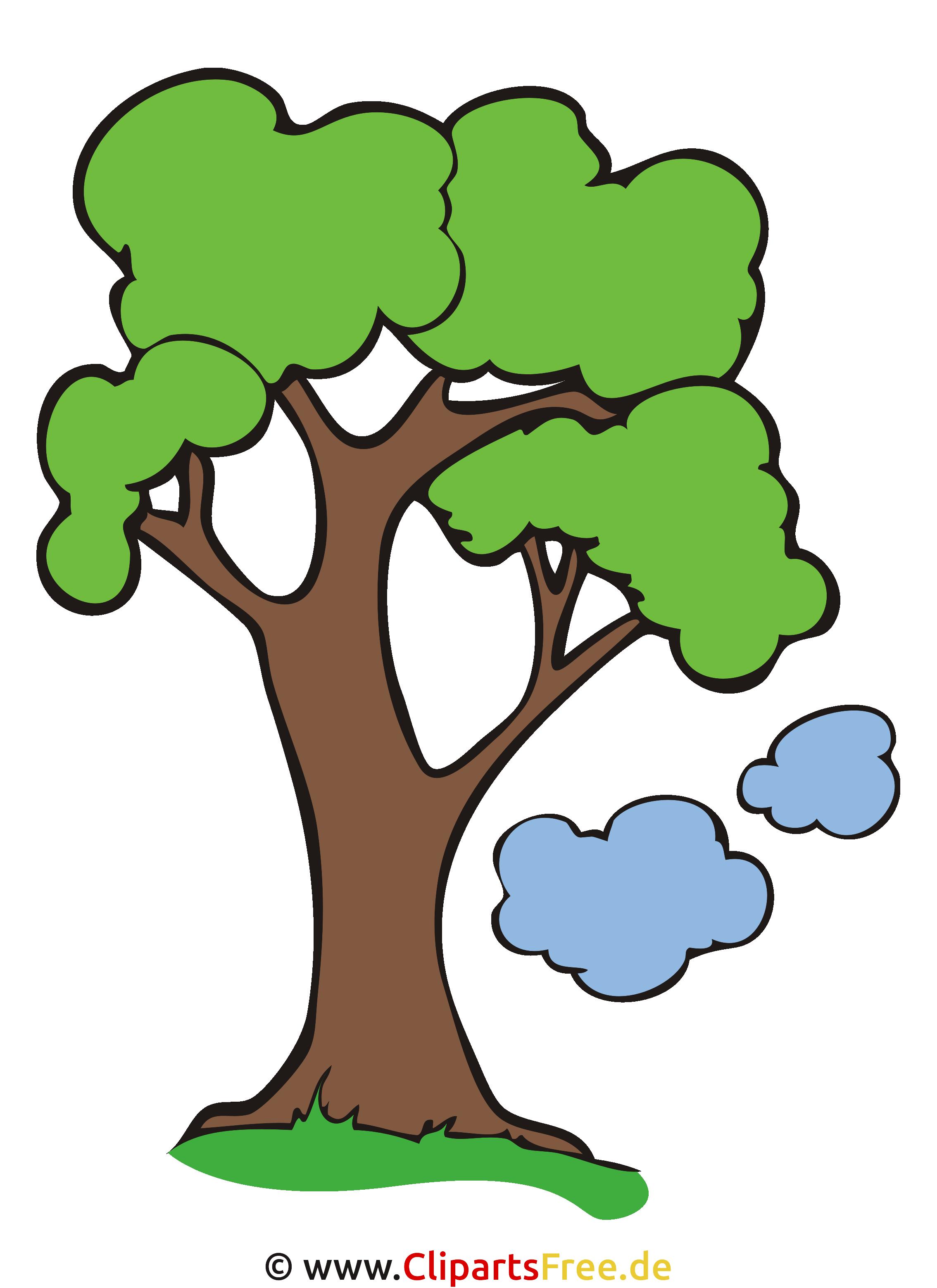 Baum Clipart, Bild, Cartoon, Grafik, Illustration