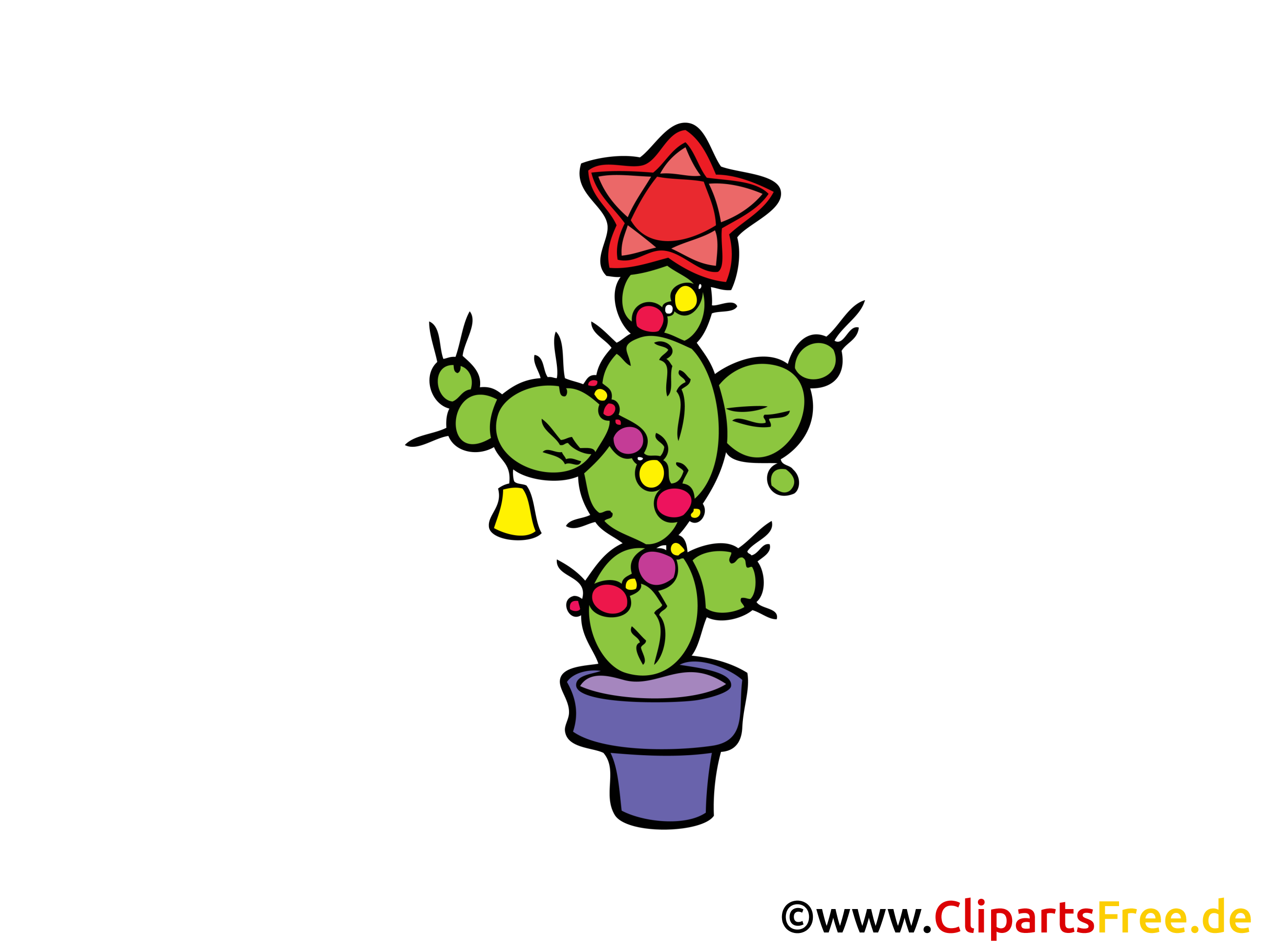 Cactus with star clip art free