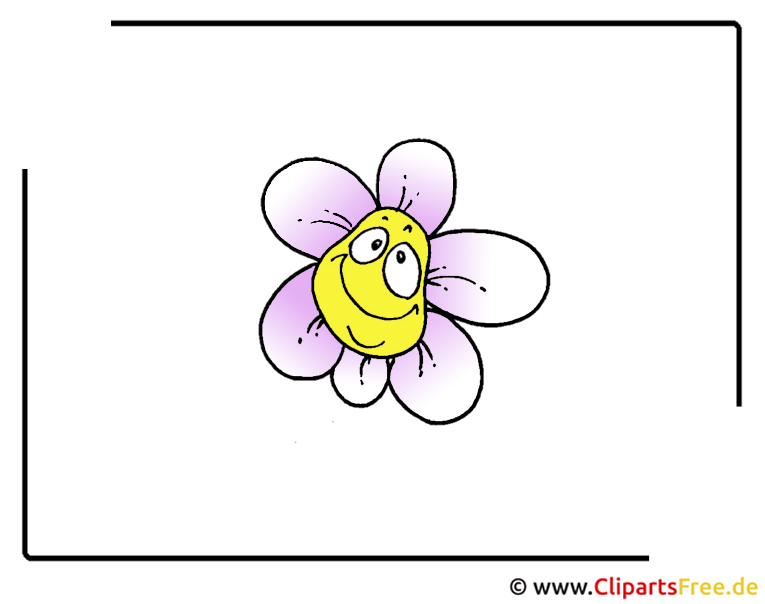 Cartoon Blume Clipart free