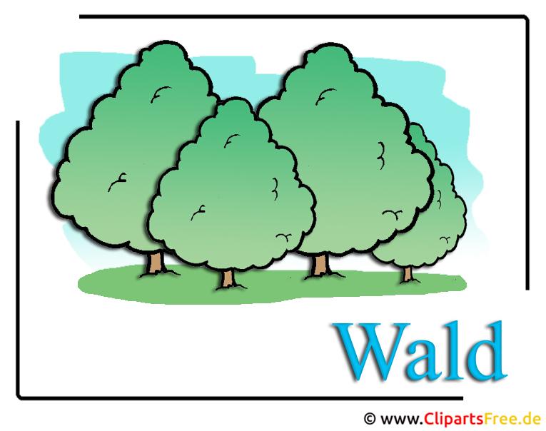Wald Clipart-Bild free