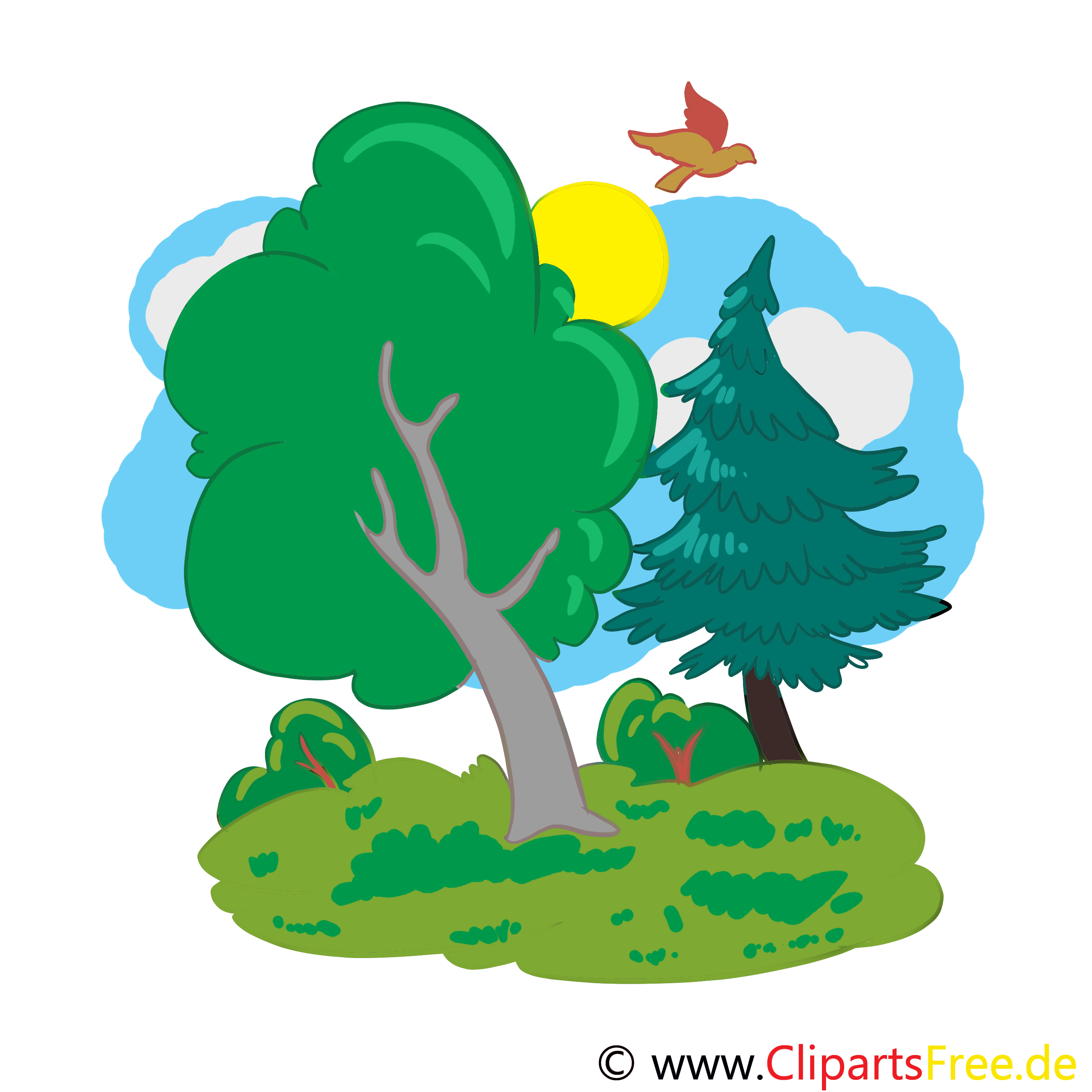 wald cartoon bild illustration clip art
