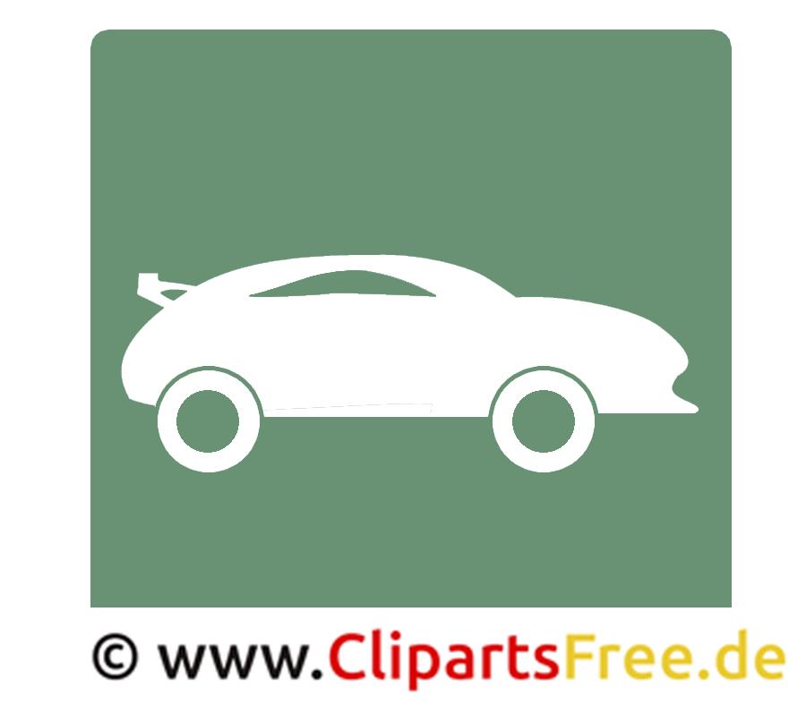 Sportwagen Piktogramm