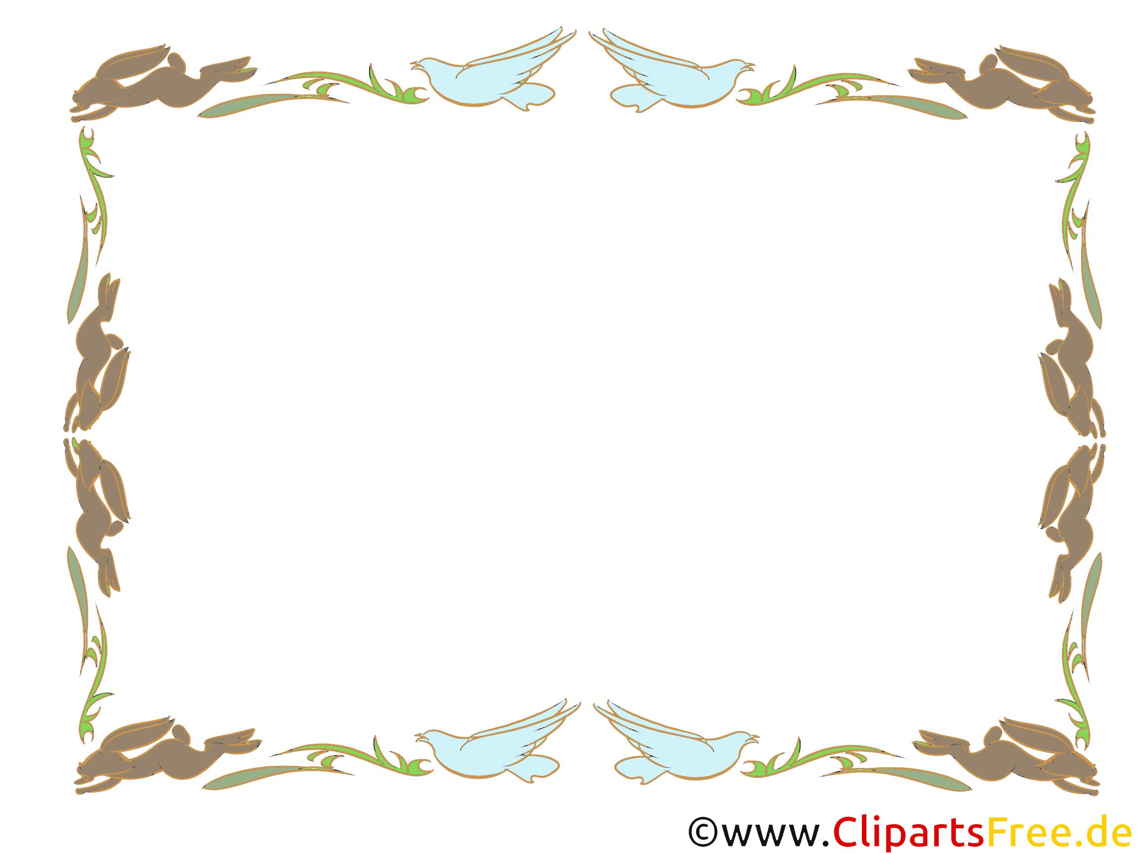 Bildrahmen mit Vögeln - Clipart kostenlos