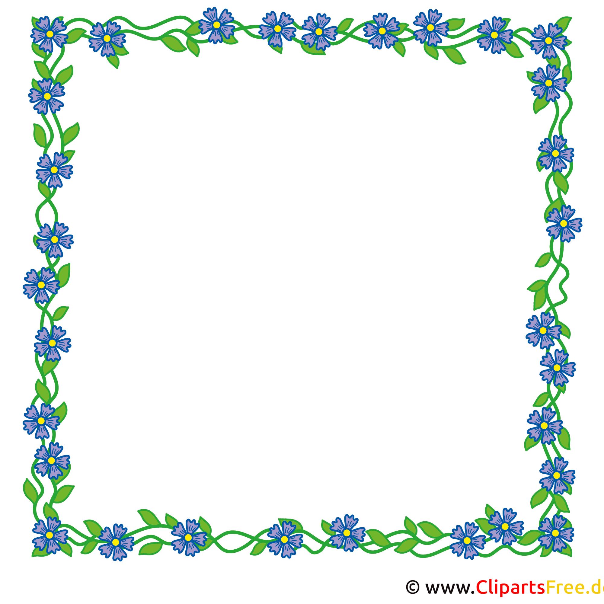 Blumenrahmen für Bilder mit Zyane