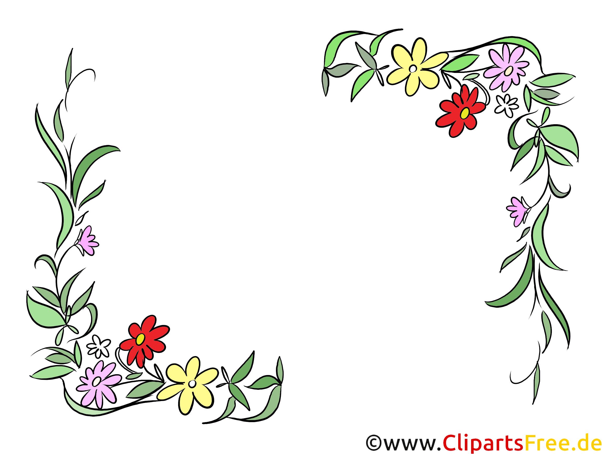 Blumenranken Sommer, Frühling Clipart