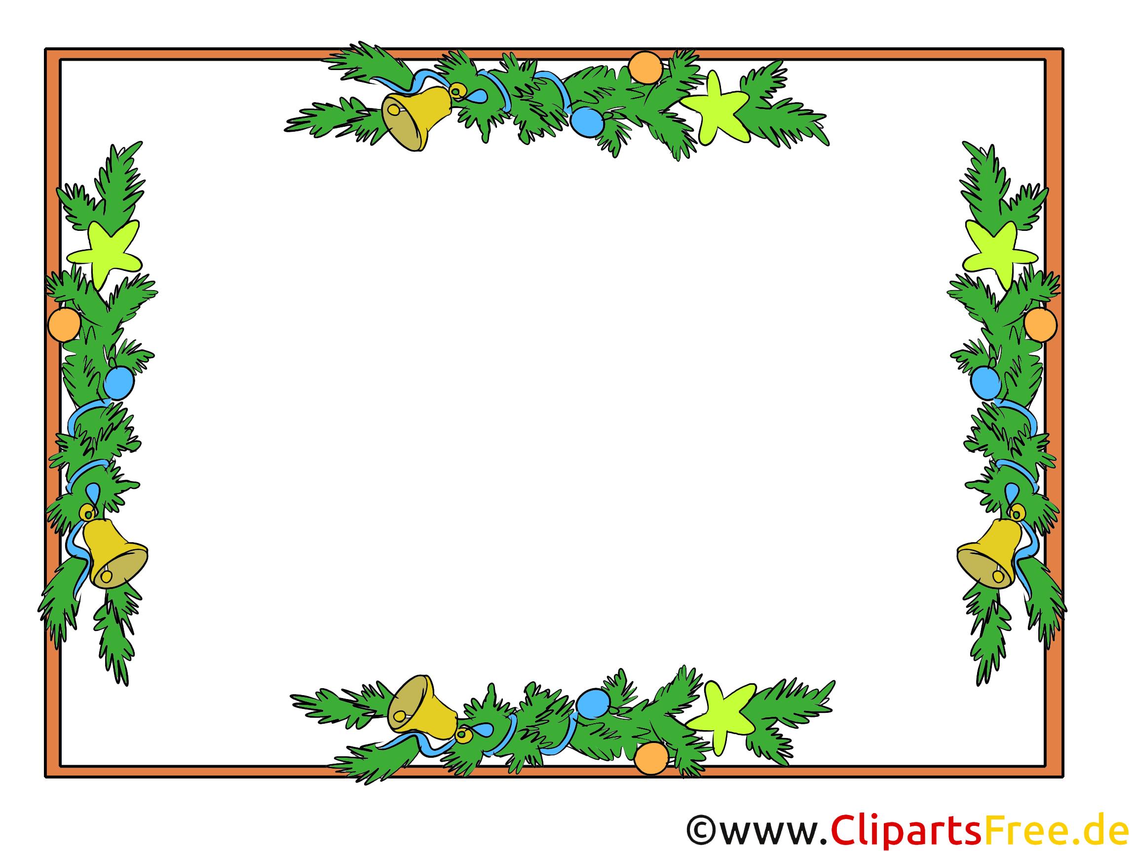 Clipart Weihnachten Rahmen kostenlos