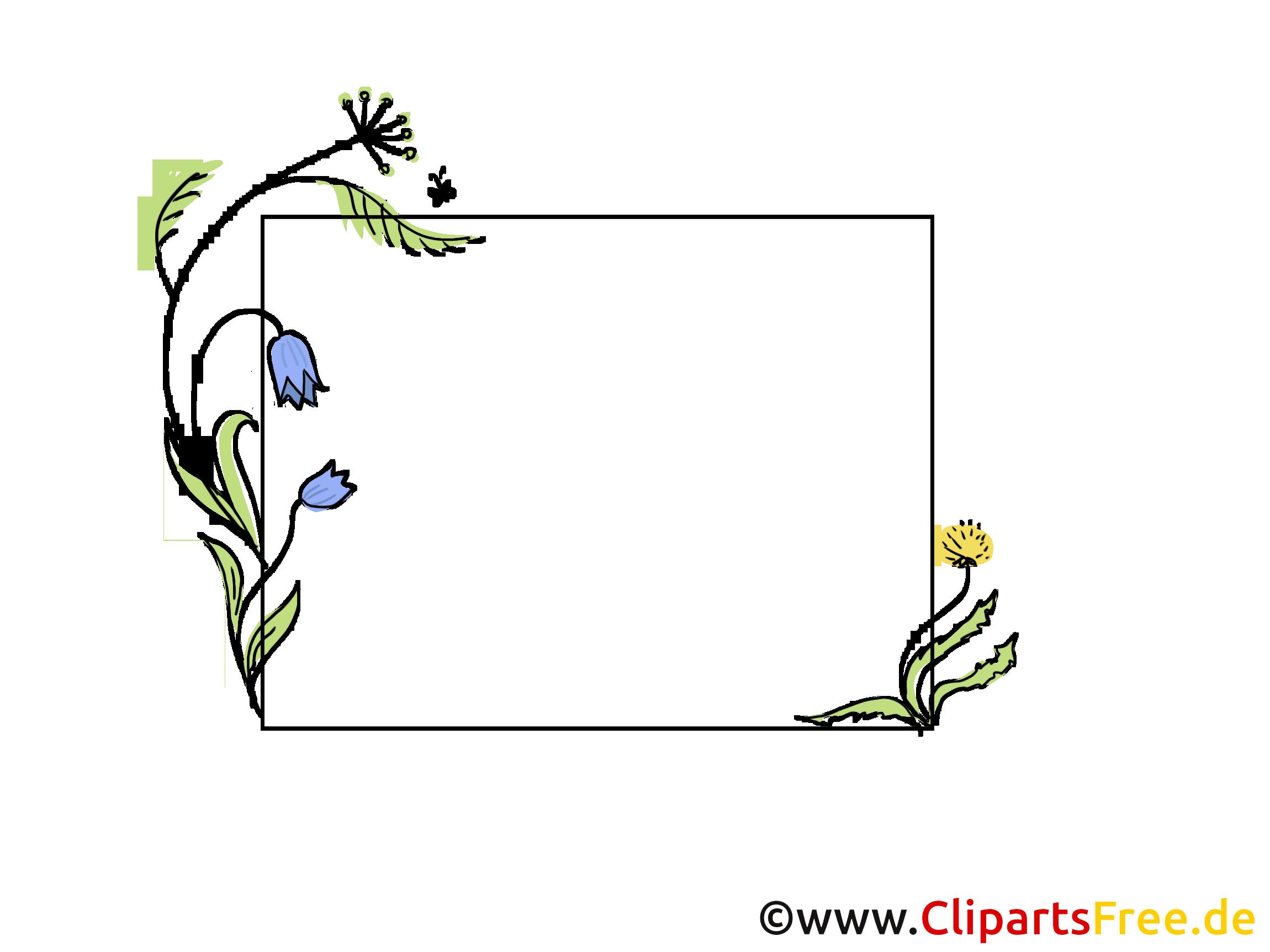 Rahmen Blumenranken