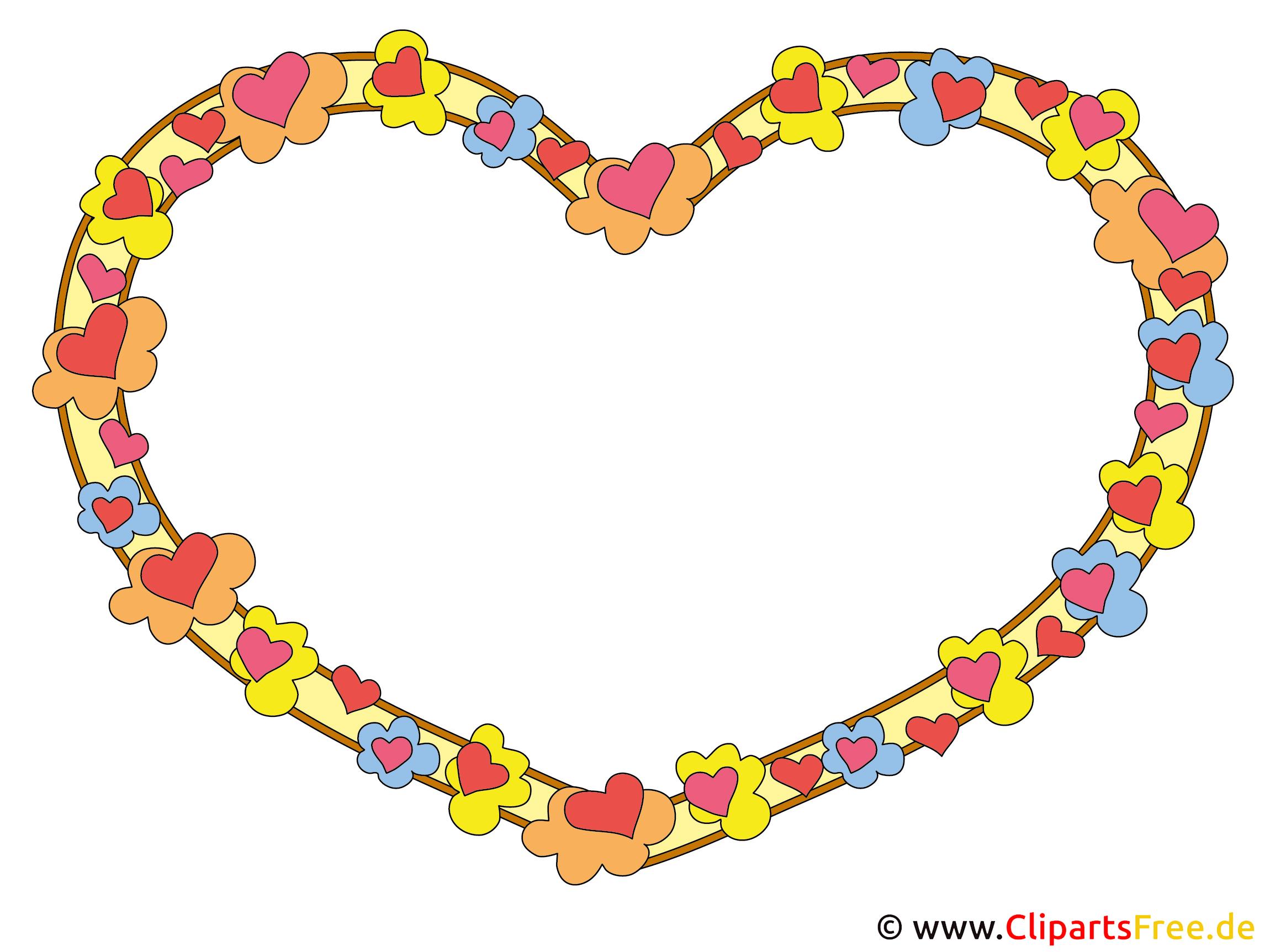 Rahmen für Bilder mit Herzchen