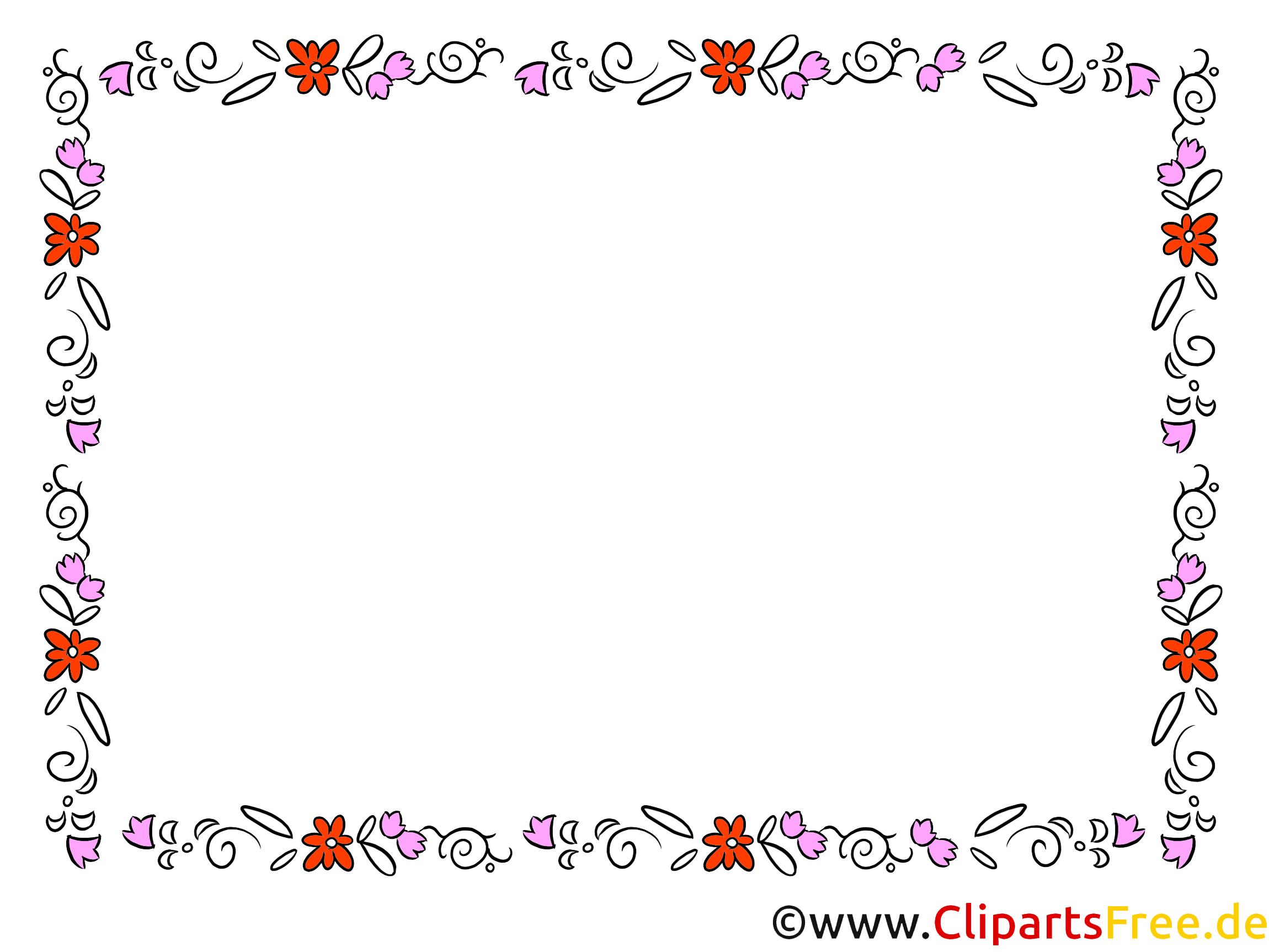 Zierrahmen Clipart kostenlos