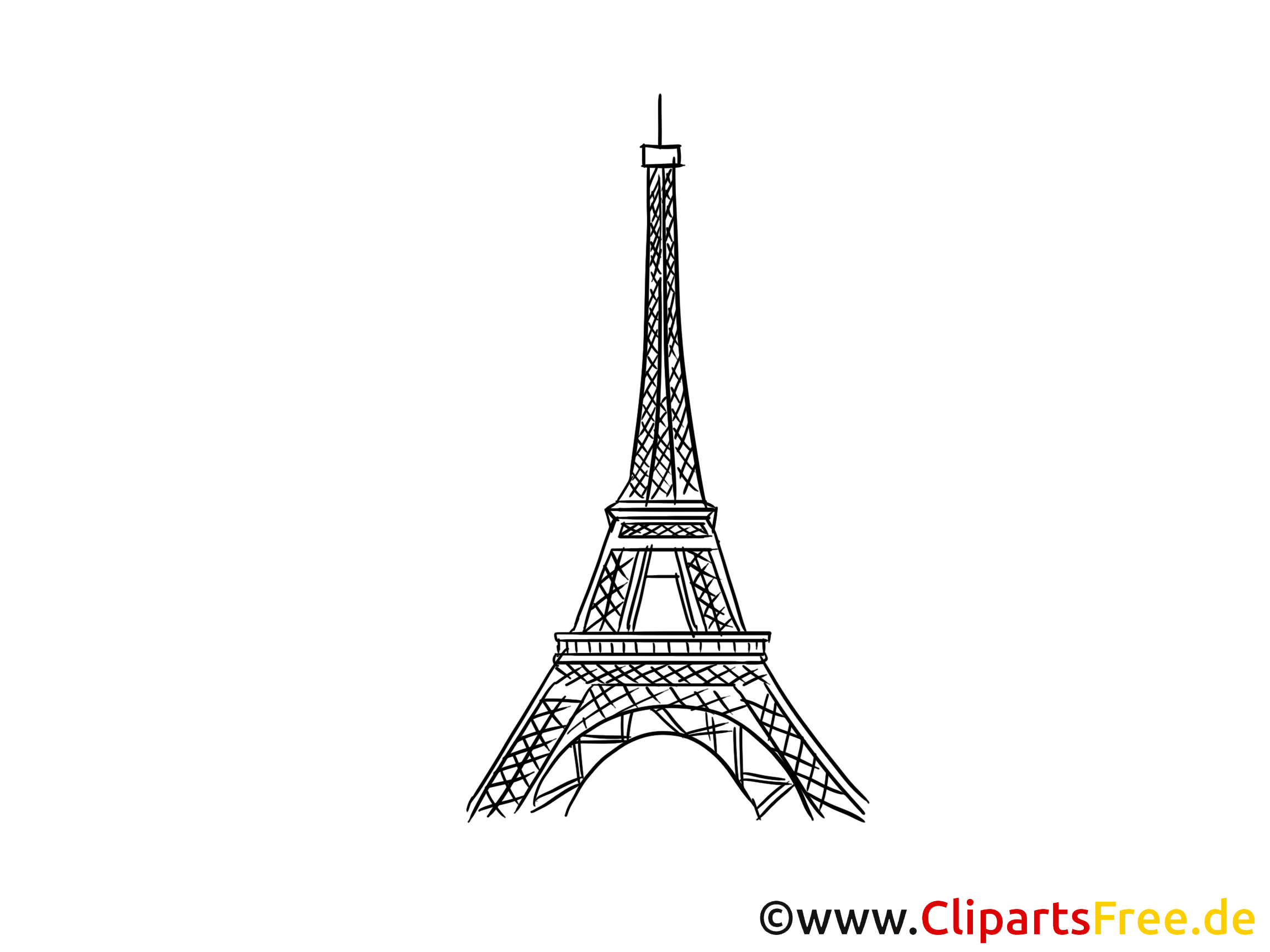 eifelturm in paris bild zeichnung clipart gratis. Black Bedroom Furniture Sets. Home Design Ideas