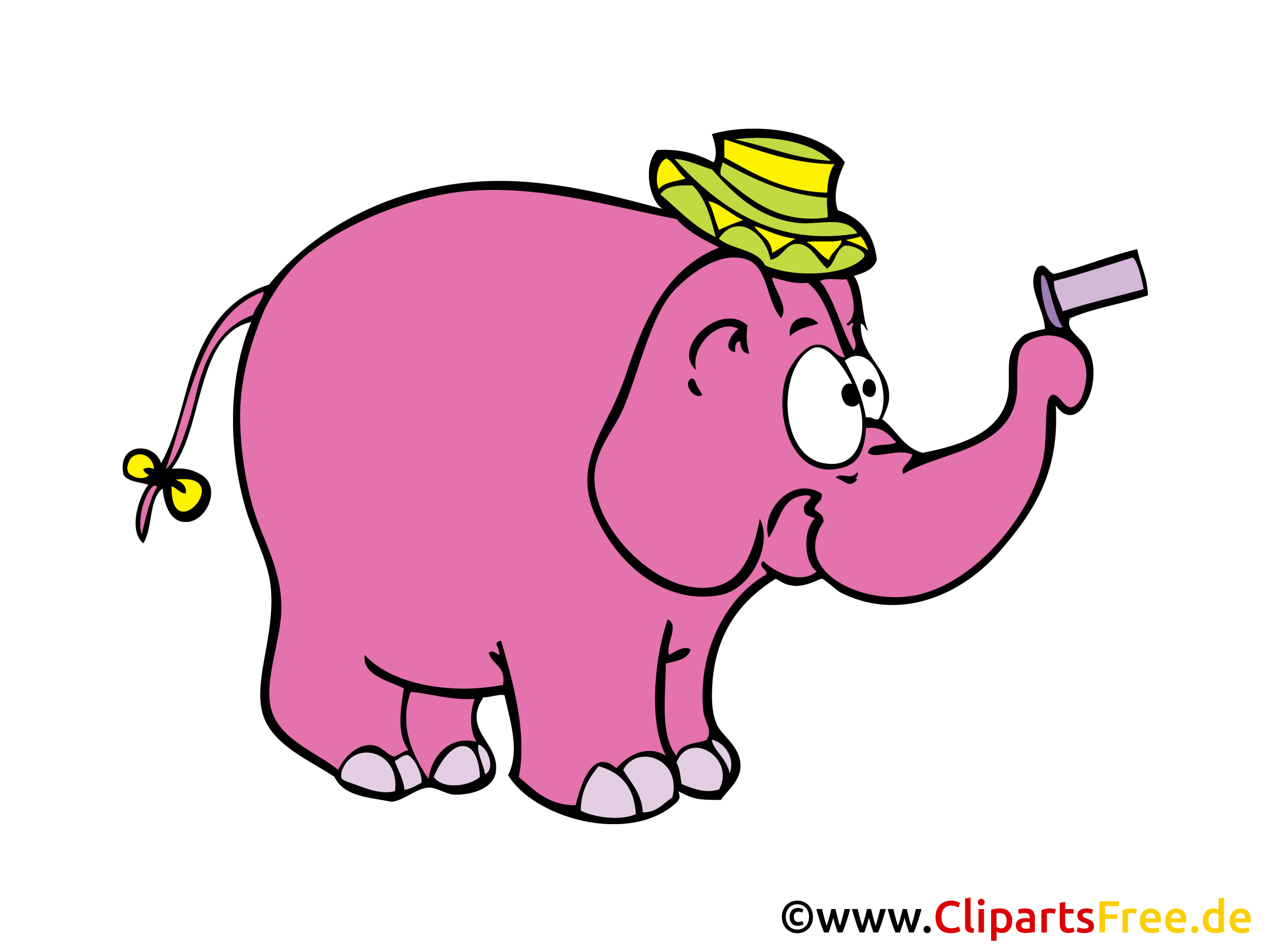 lustiger elefant comic cartoon illustration clipart. Black Bedroom Furniture Sets. Home Design Ideas