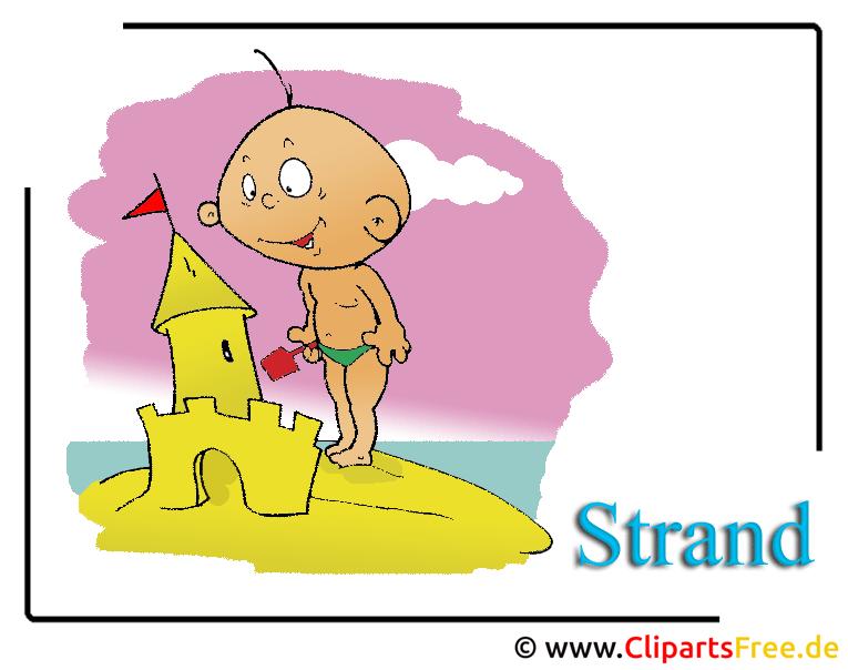 Strand Cartoon Clipart Urlaub