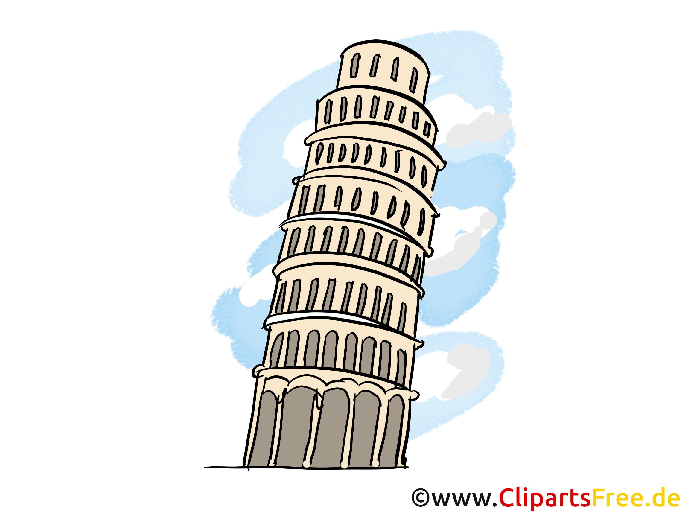 Turm Von Pisa Italien Reise Illustration Grafik Bild Gratis