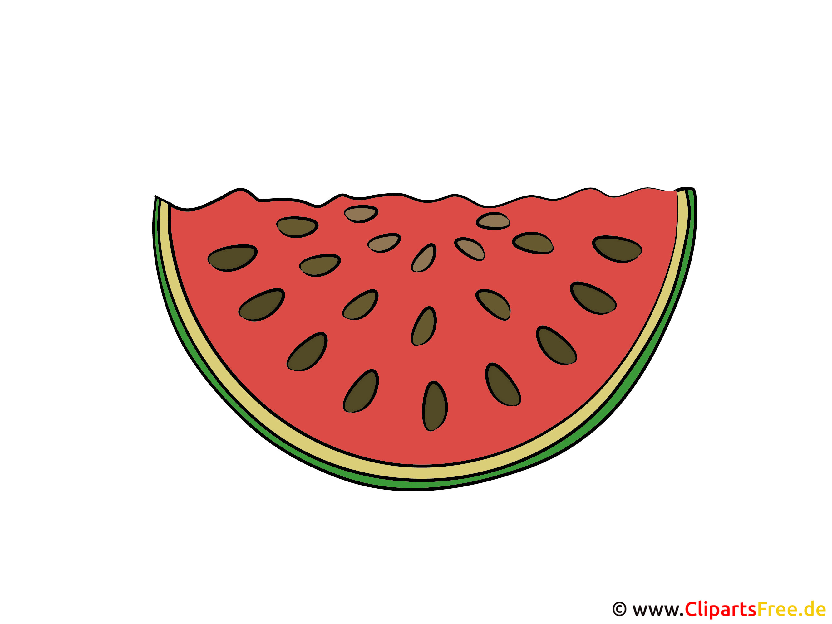 Wassermelone Erntedankfest Clipart