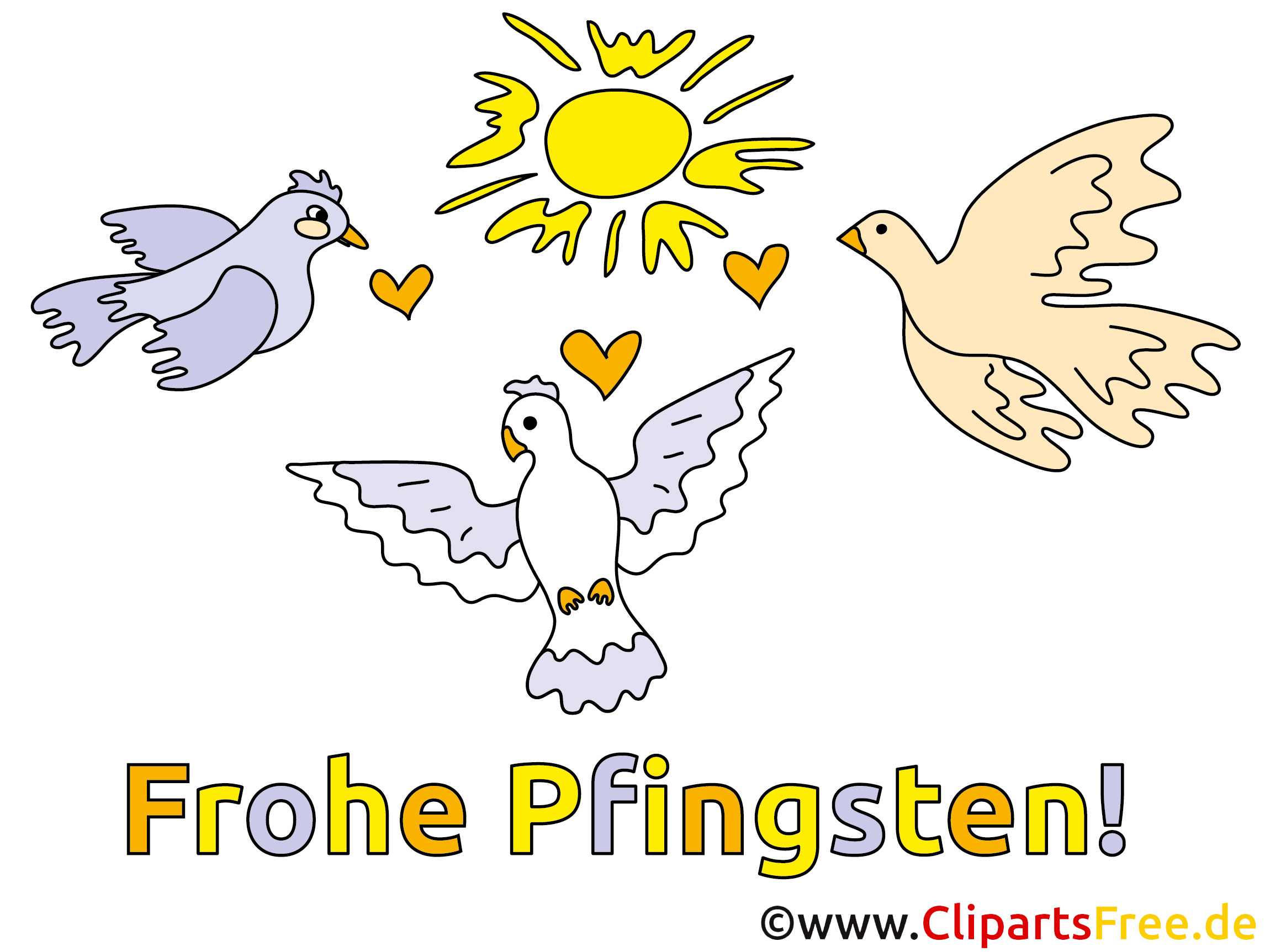 Frohe Pfingsten Clipart