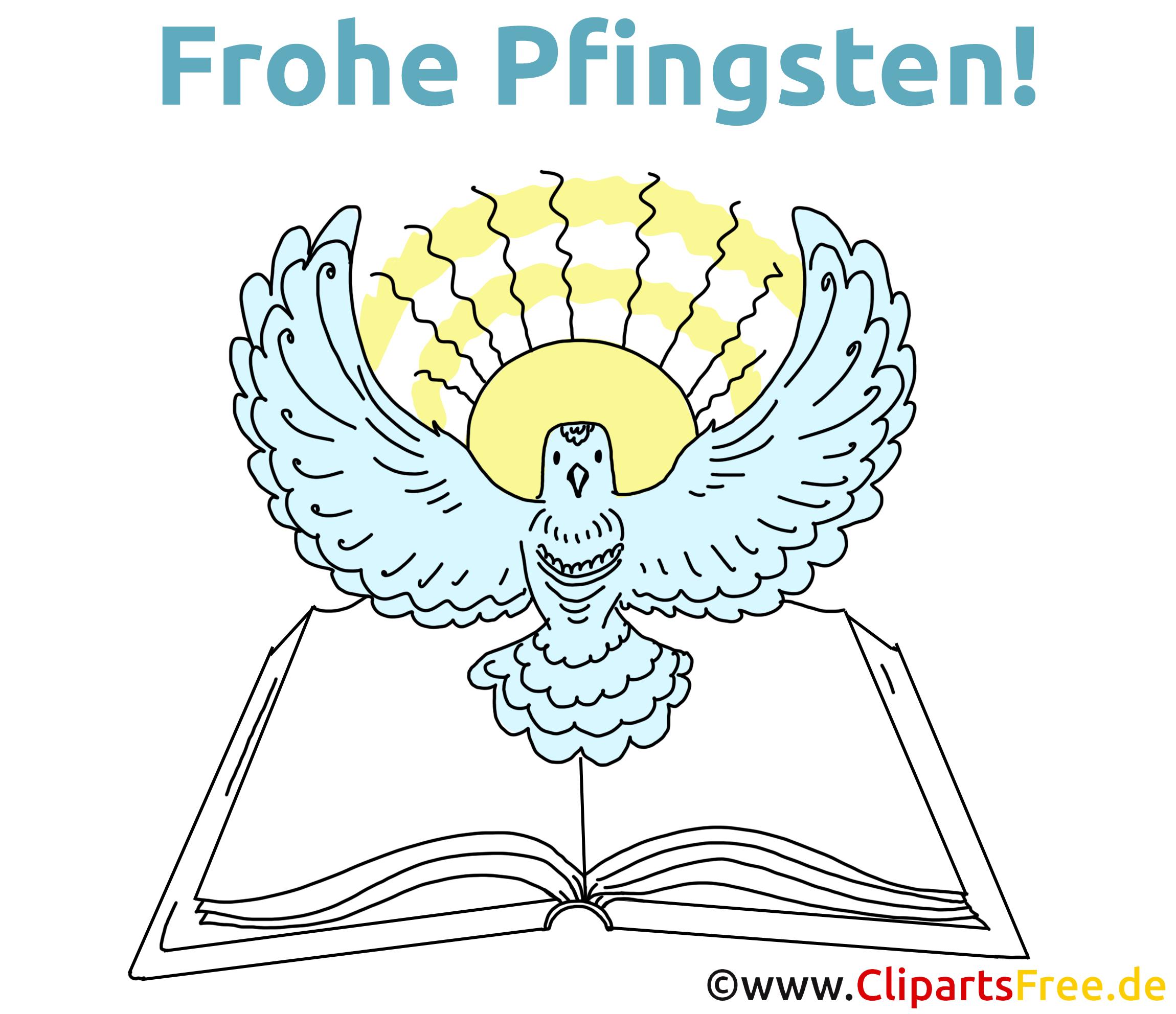 Frohe Pfingsten Glückwunschkarte, E-Karte