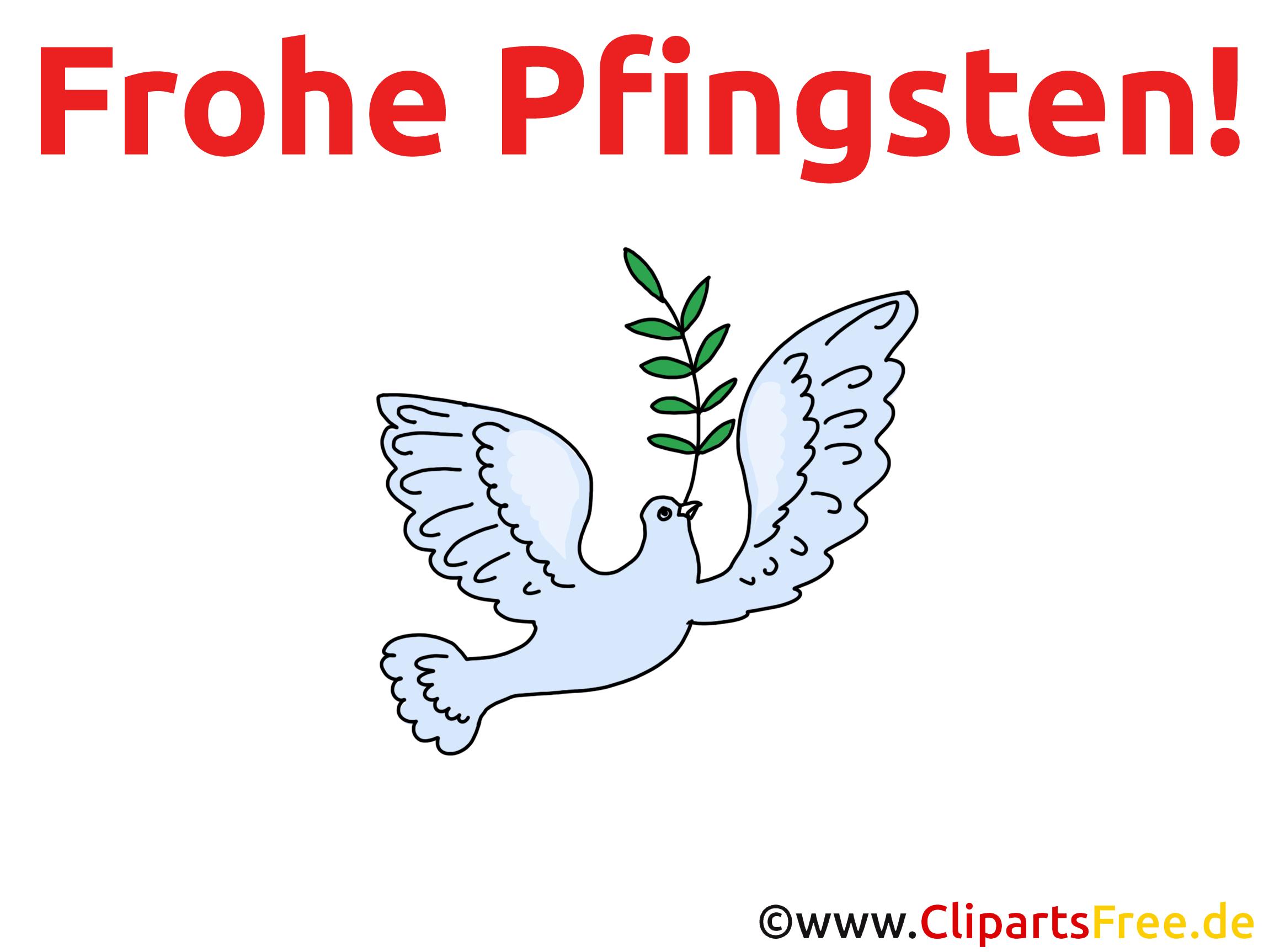 Glückwunschkarte Frohe Pfingsten