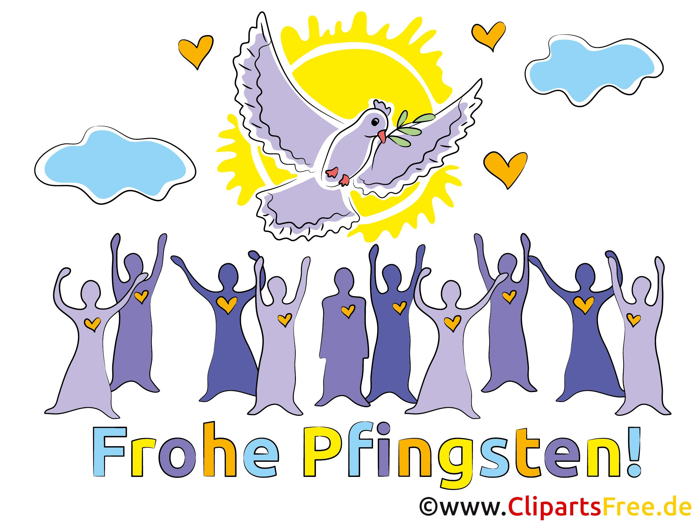 Gratulationen zu Pfingsten Clipart