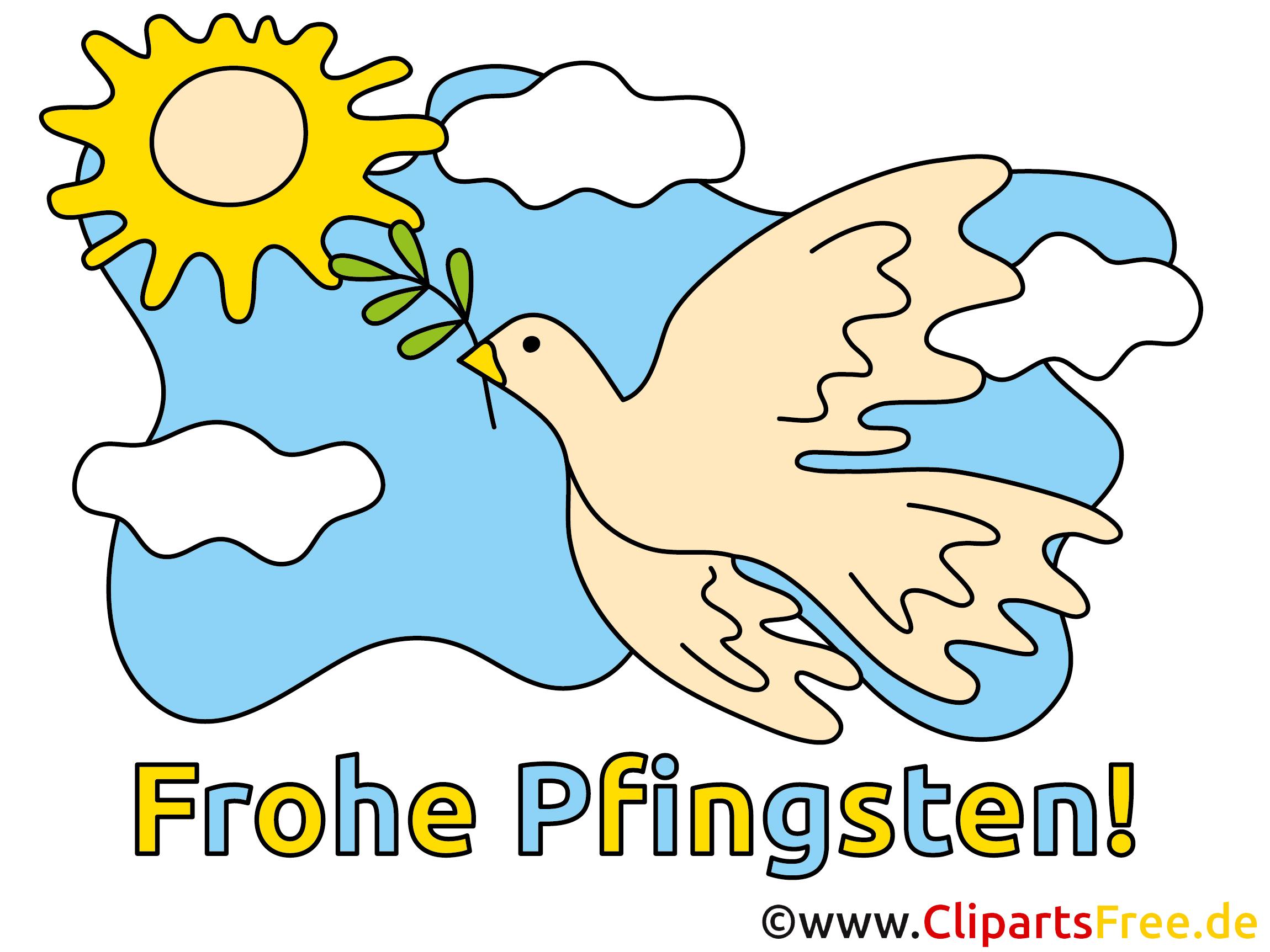 Gute Wünsche zu Pfingsten Bild, Clipart, Illustration