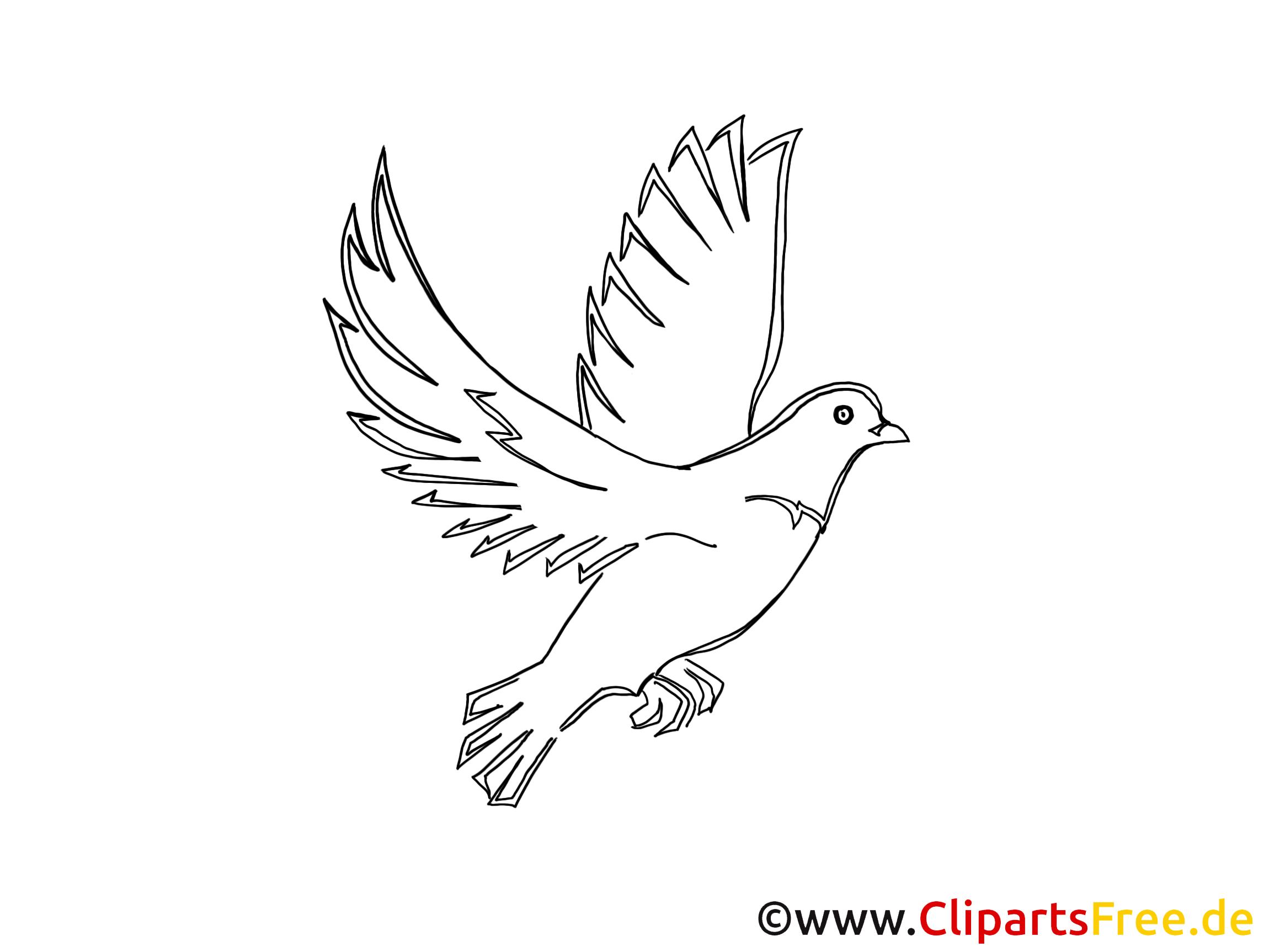 Pfingsten malvorlagen - Dessin de colombe a imprimer ...