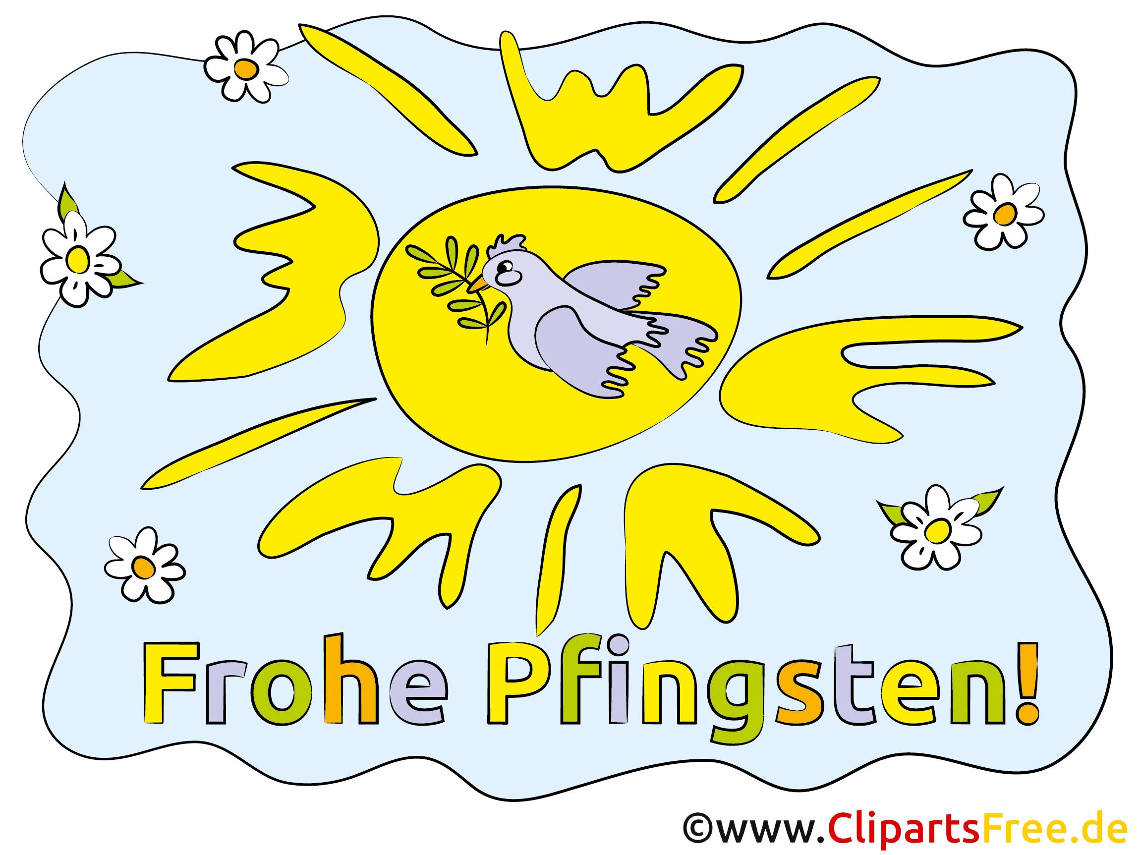 Sonne Karte zu Pfingsten
