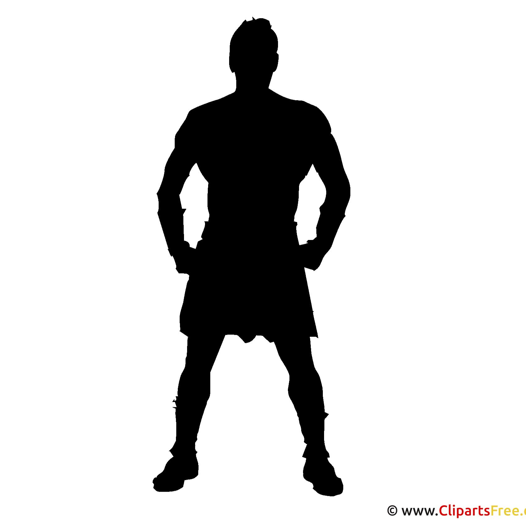 Silhouette Athlete Clipart