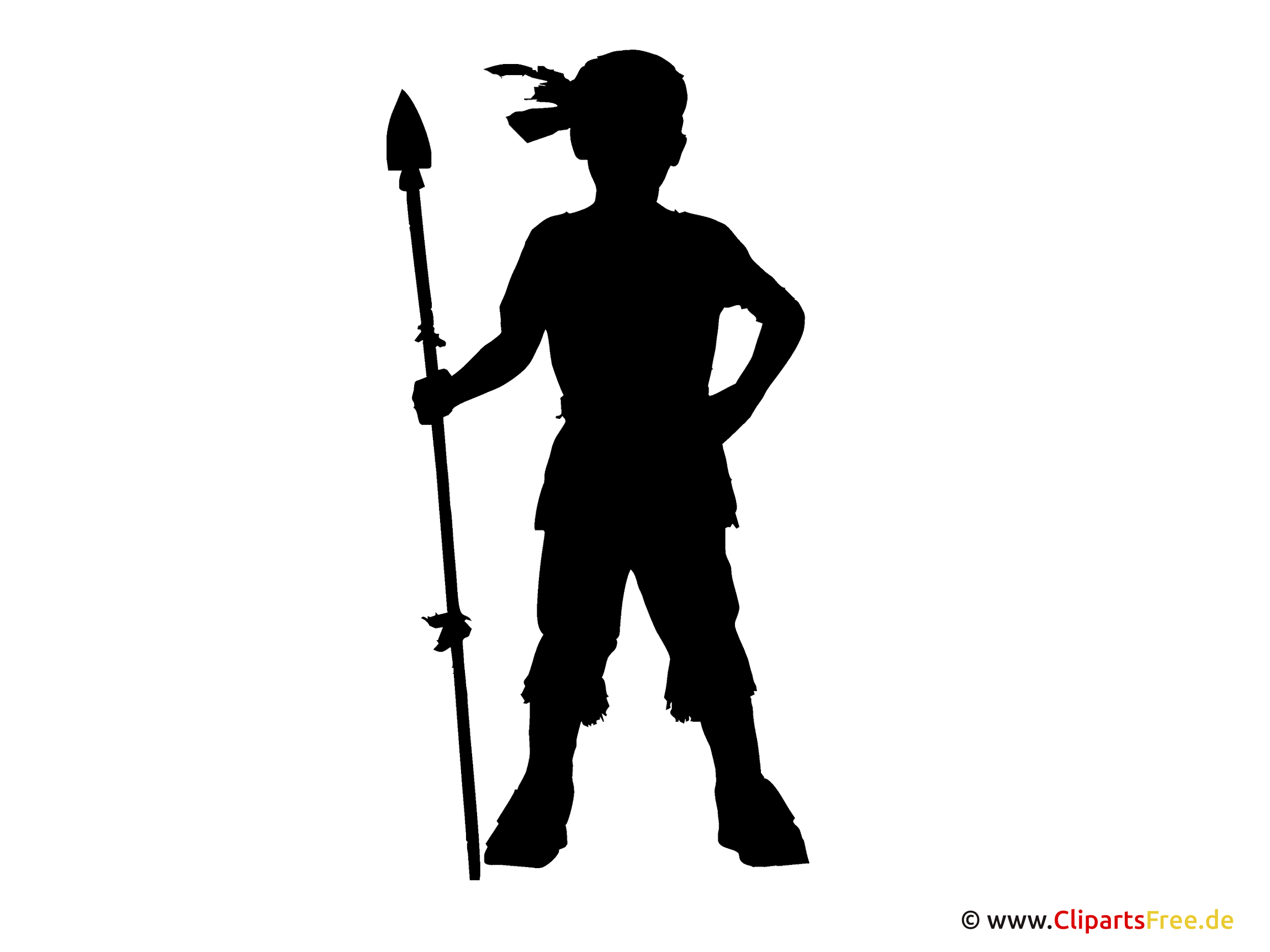Silhouette Indianer Clipart