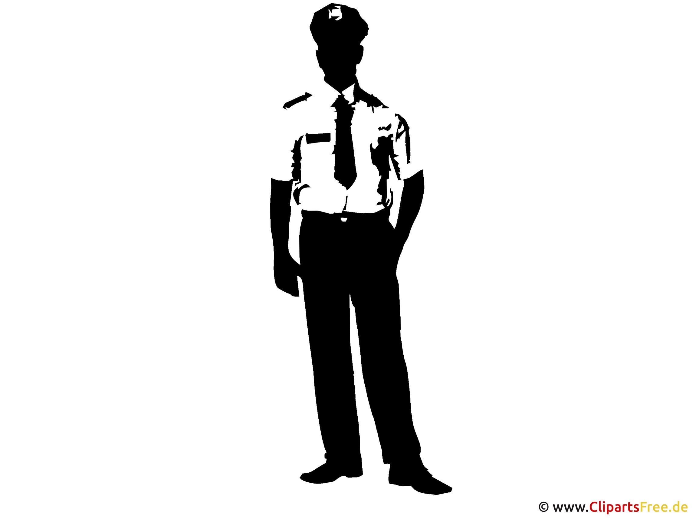 Silhouette Polizist Clipart