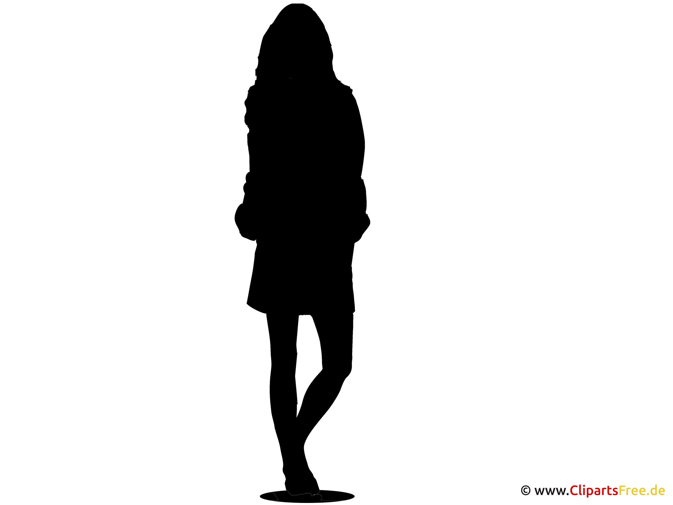 Silhouette Topmodel Clipart