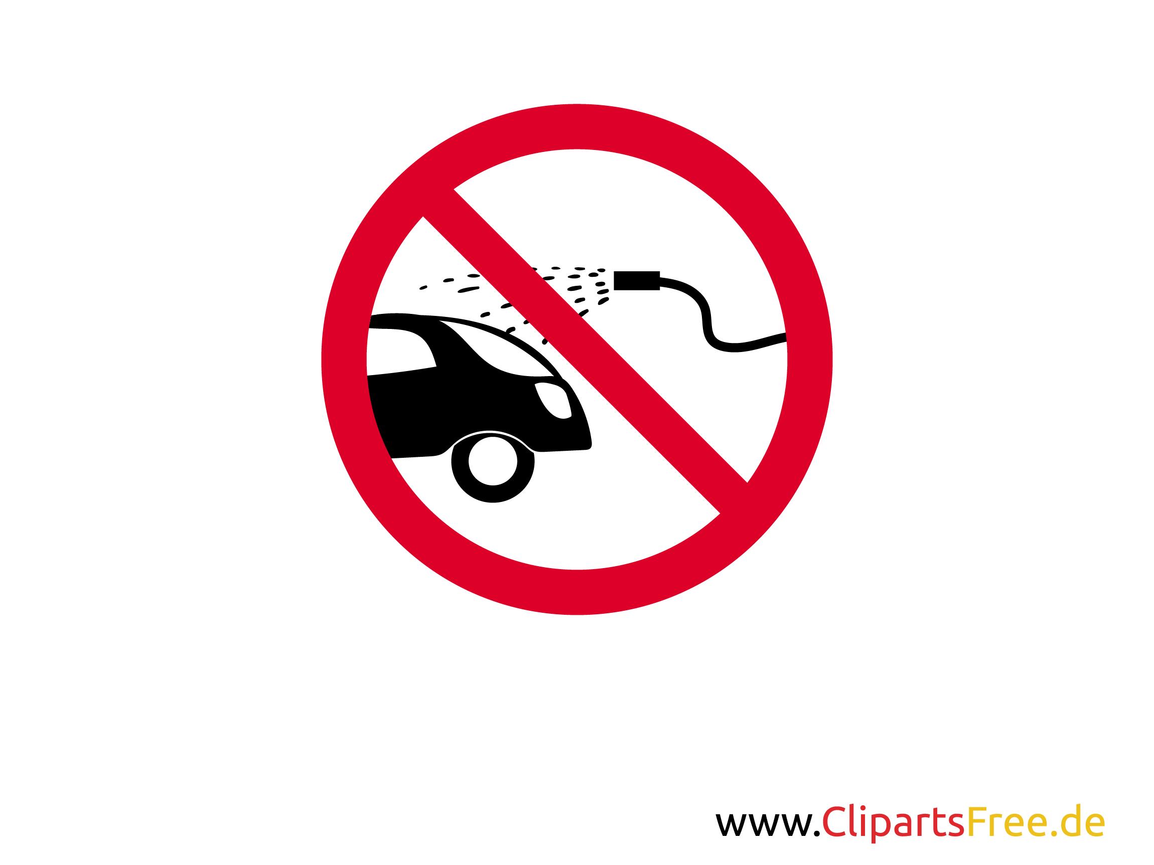 autowassen verboden verbodsteken voor afdrukken