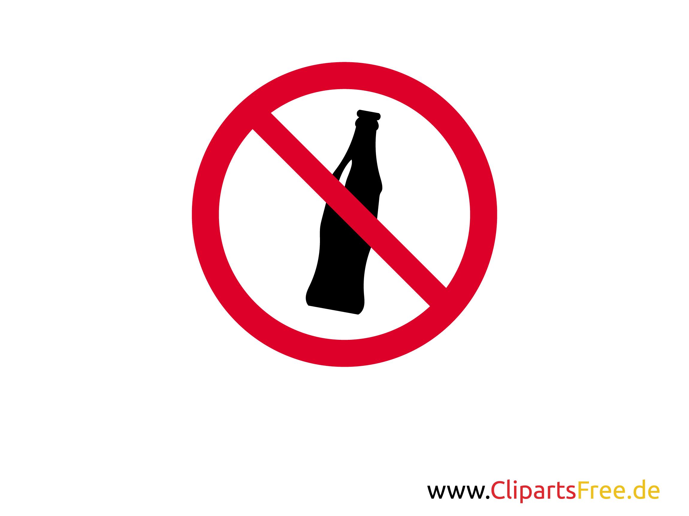 Verbotsschild Keine Getränke zum Drucken