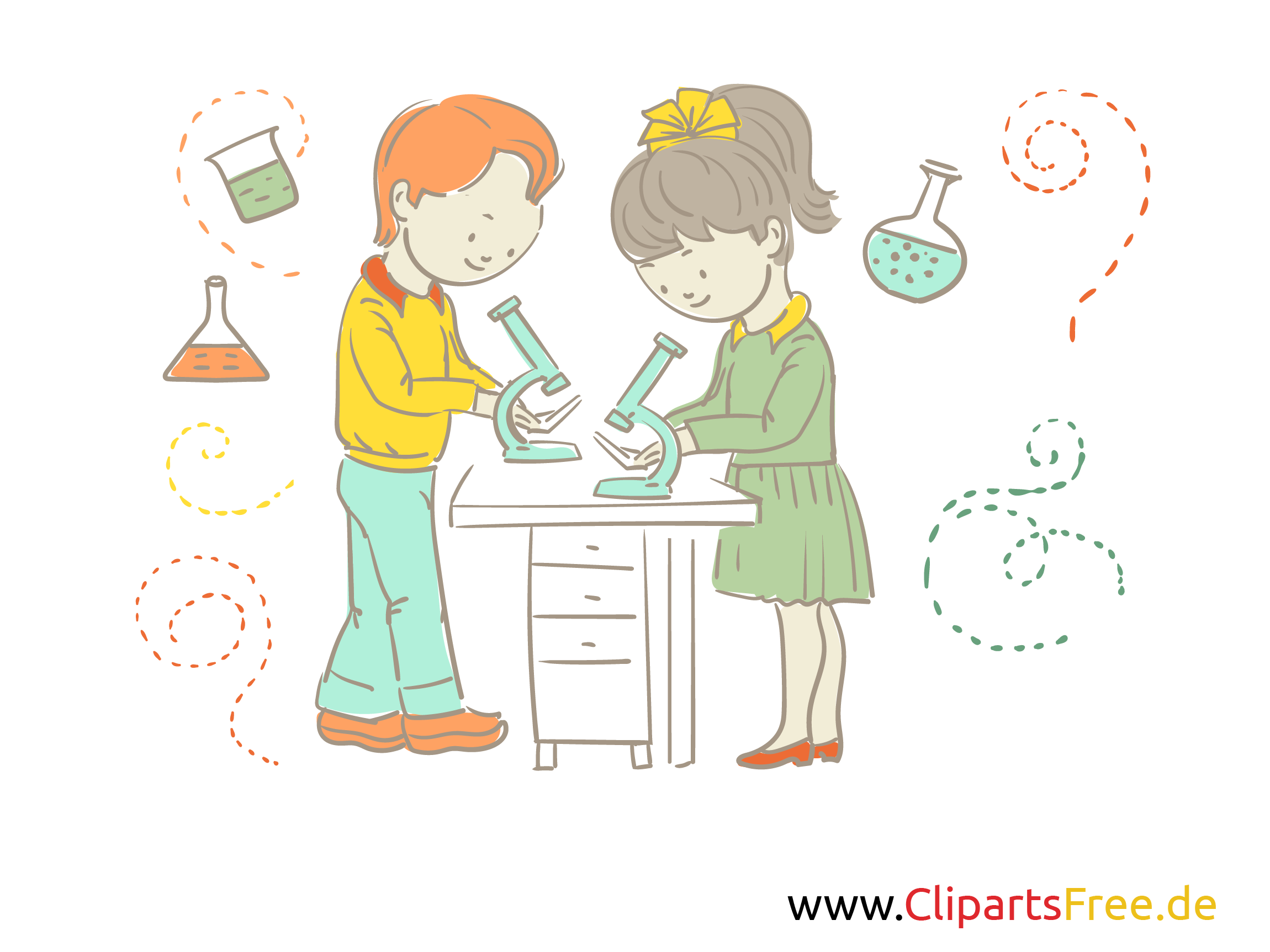 Bilder für den Unterricht - Chemie-Unterricht Illustration